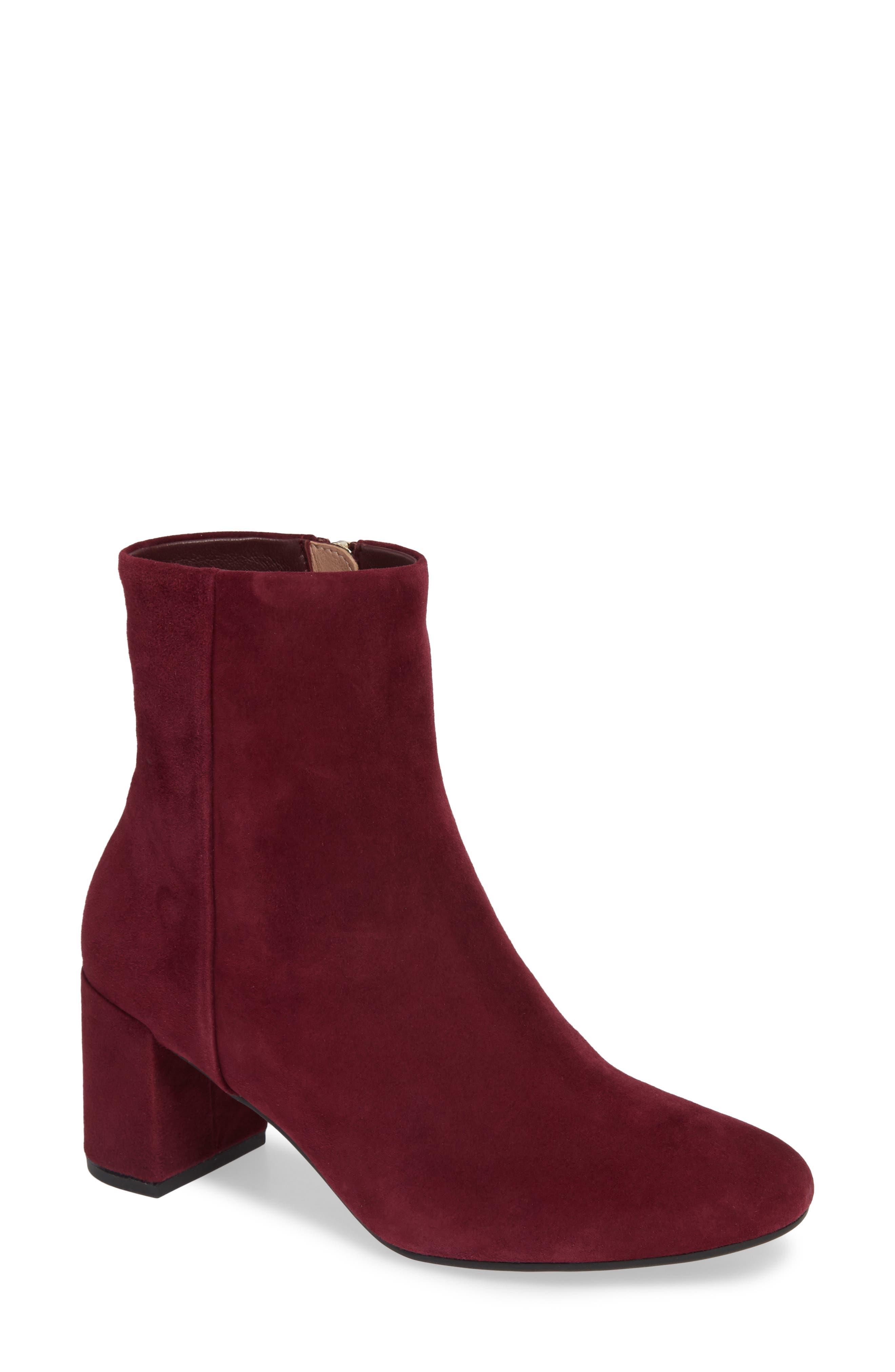 Taryn Rose Cassidy Block Heel Bootie, Red