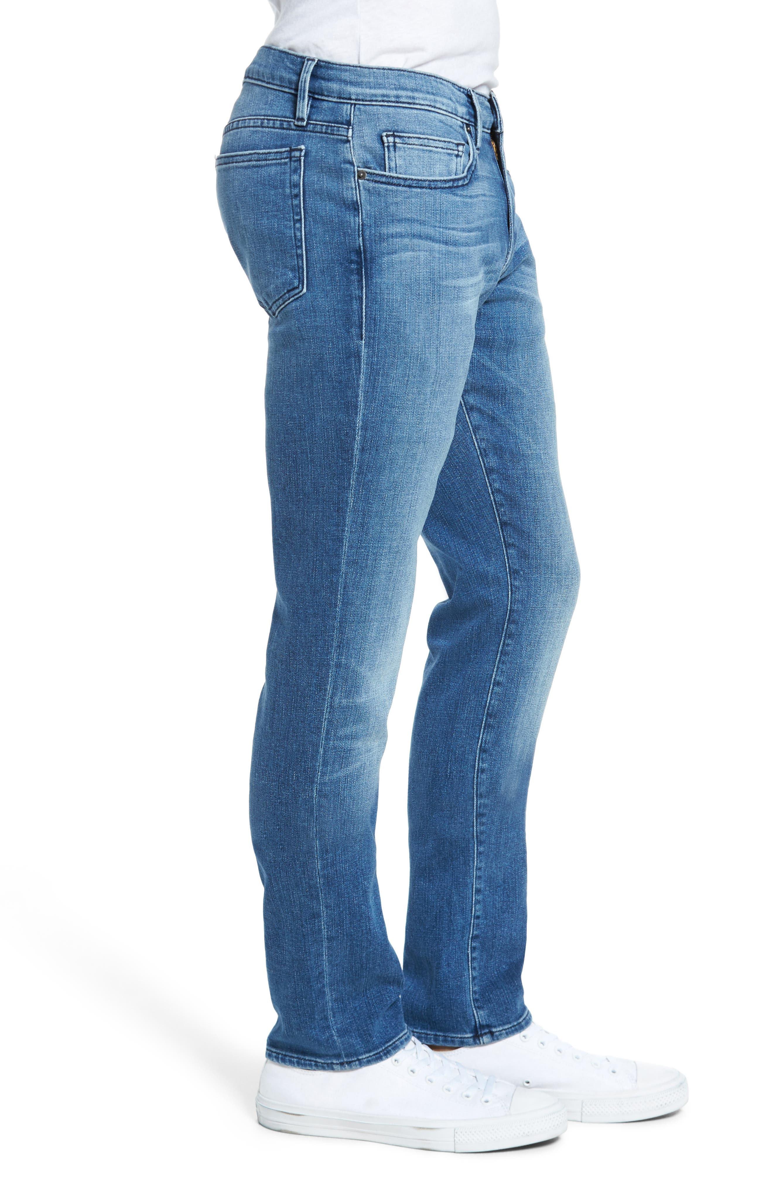 FRAME, L'Homme Slim Fit Jeans, Alternate thumbnail 4, color, BRADBURY