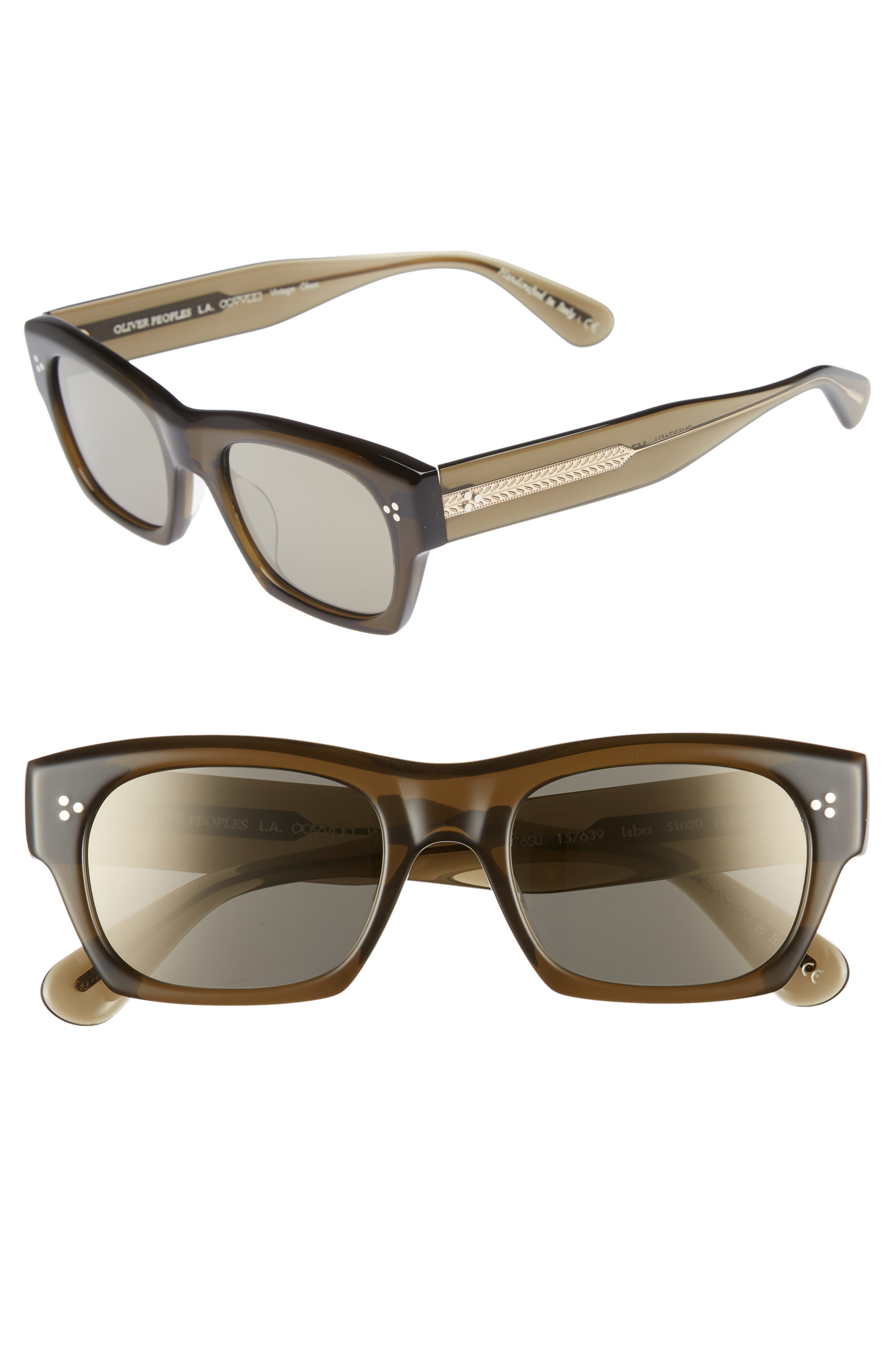 8e8a94c3086 Men s Oliver Peoples Isba 51Mm Sunglasses - Dark Military