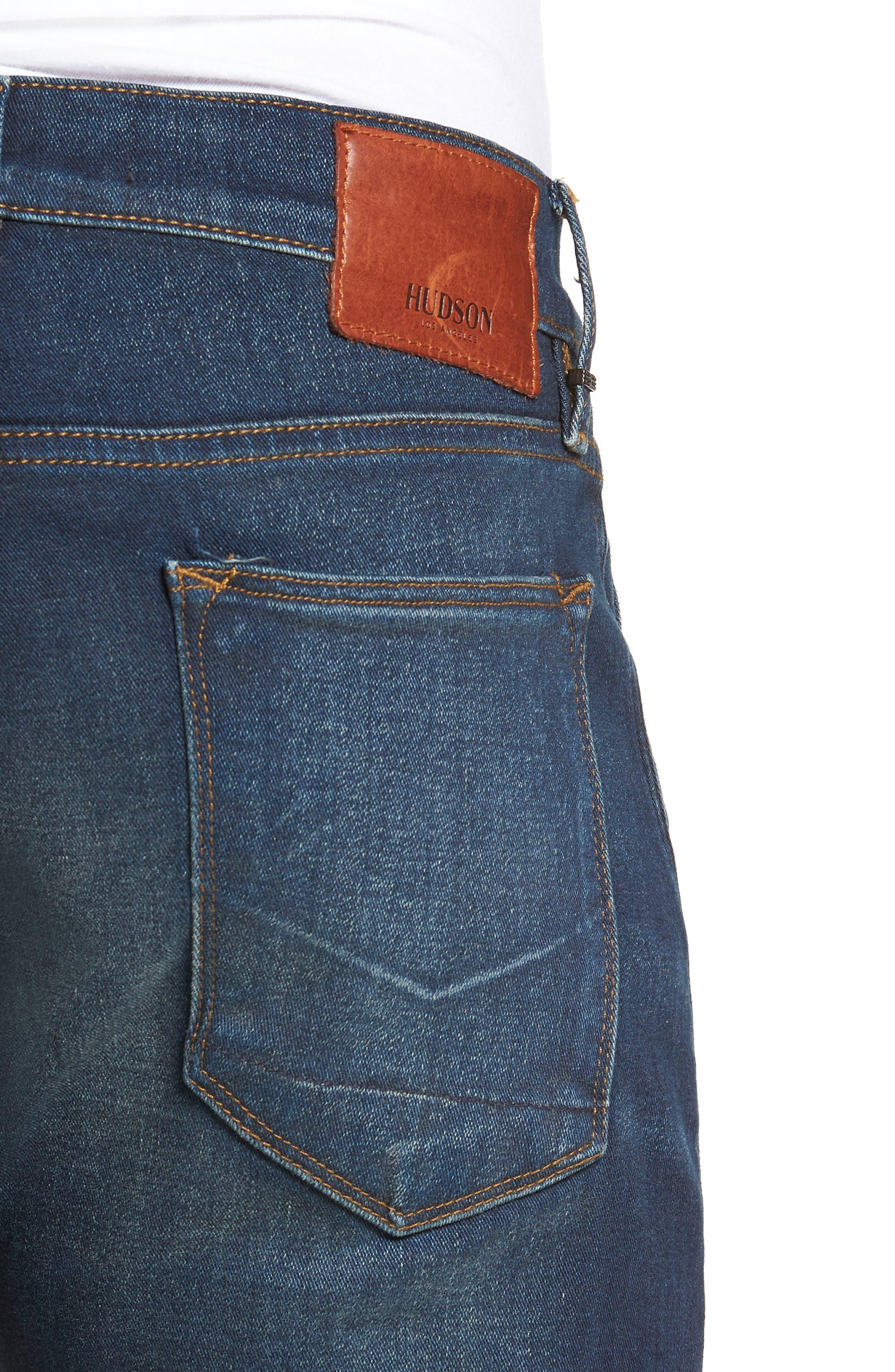 HUDSON JEANS, Blake Slim Fit Straight Leg Jeans, Alternate thumbnail 4, color, NORWOOD