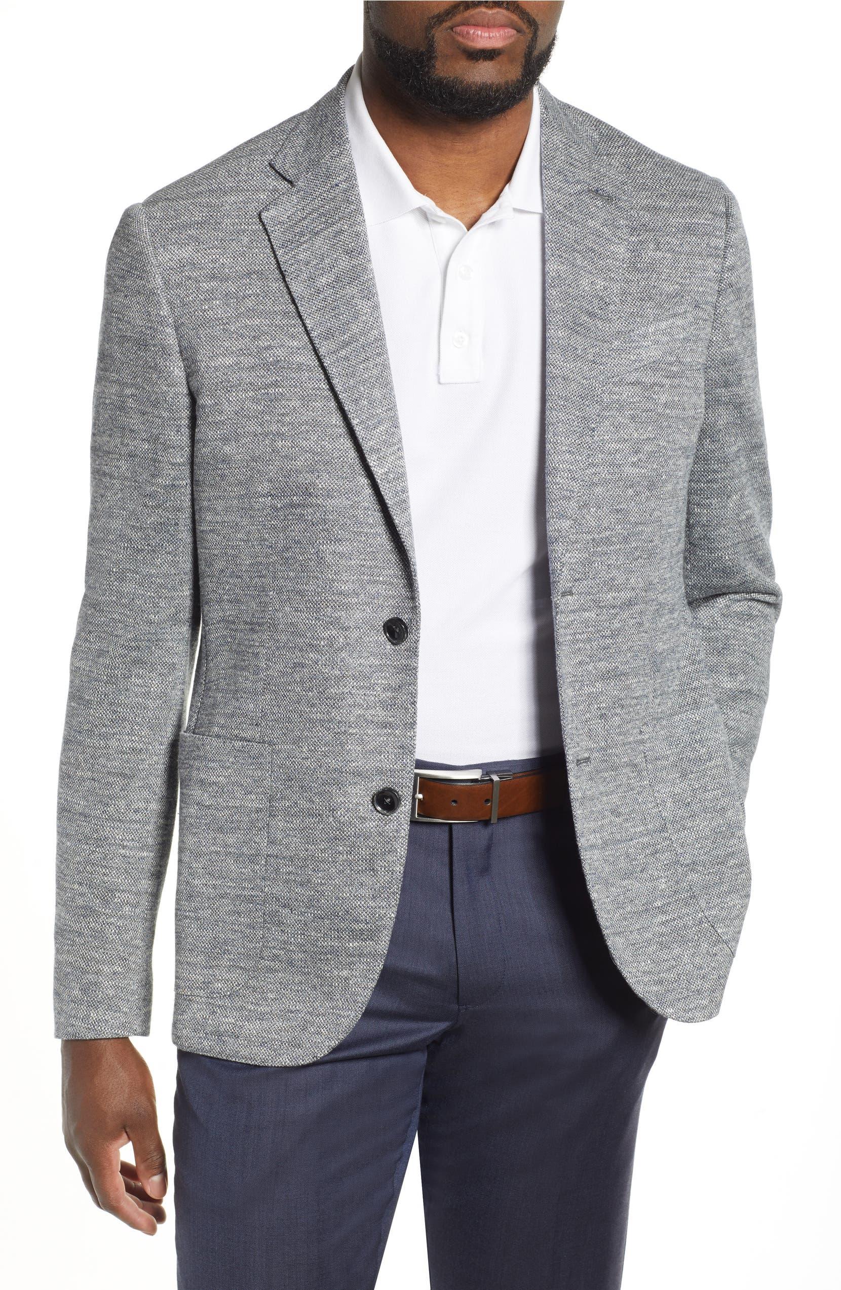 3f1cd5f7d2ca Nordstrom Signature Trim Fit Solid Knit Linen Blend Sport Coat ...
