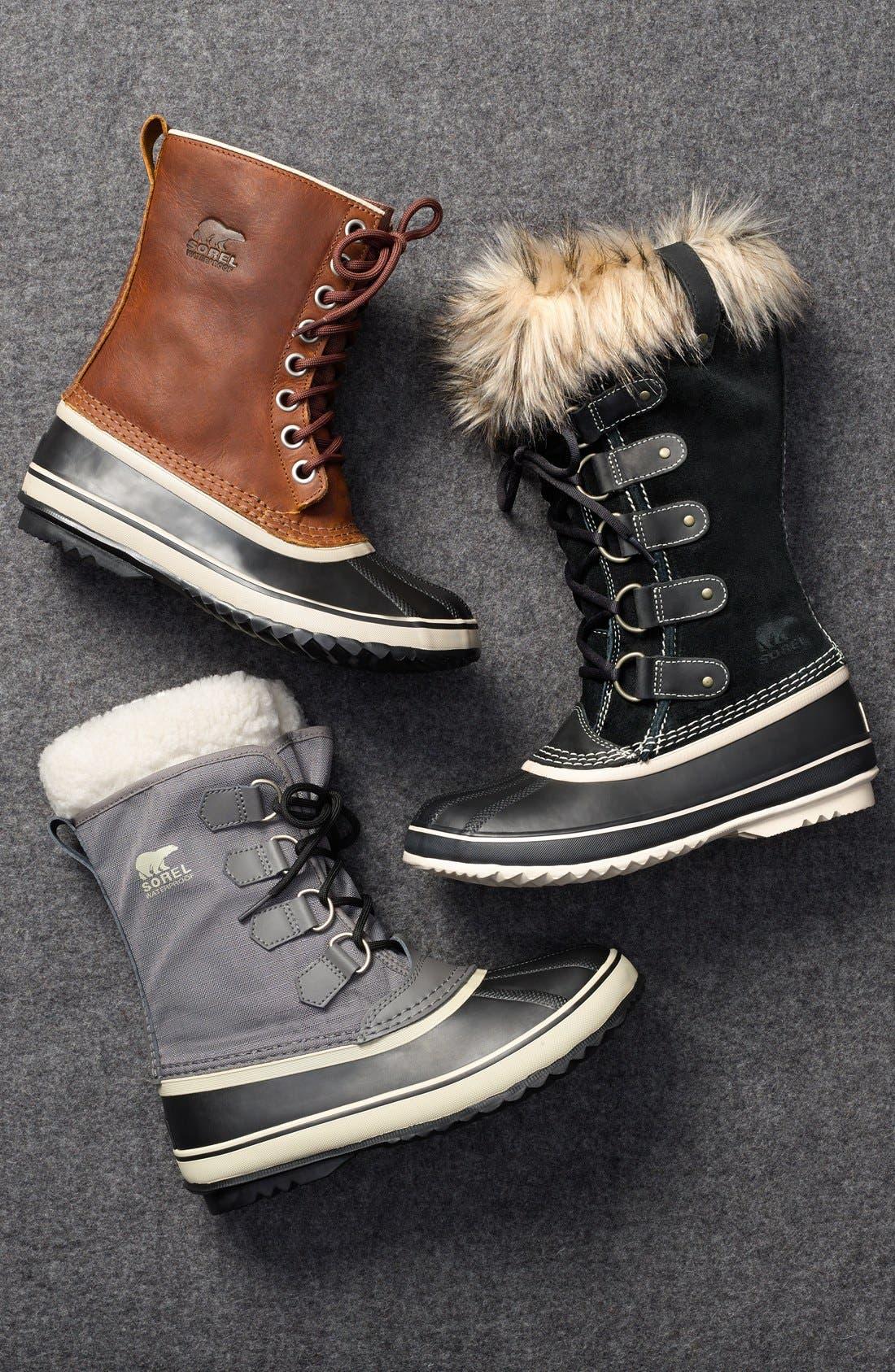 SOREL, 'Joan of Arctic' Waterproof Snow Boot, Alternate thumbnail 7, color, 201
