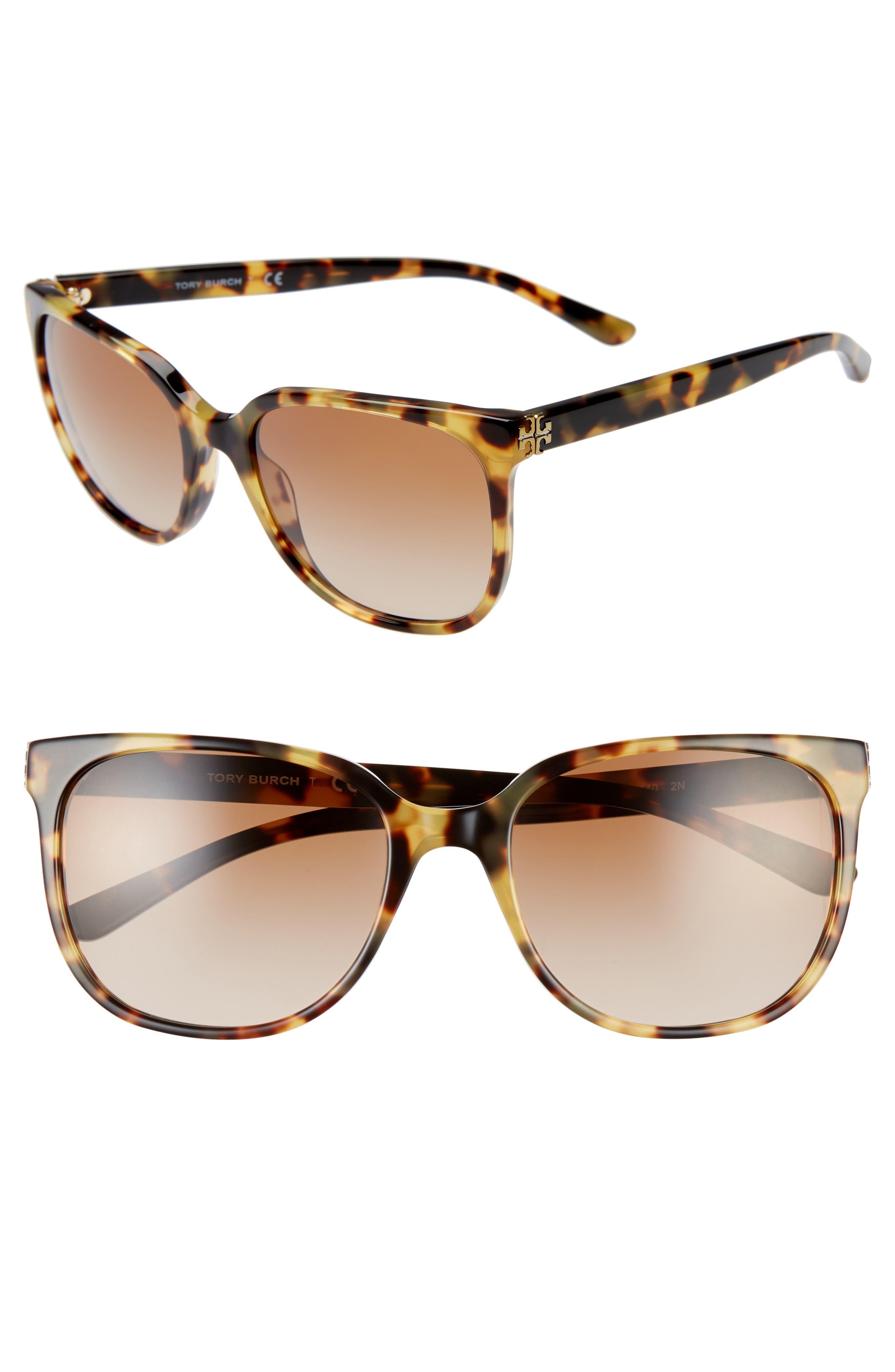 TORY BURCH, 57mm Gradient Sunglasses, Main thumbnail 1, color, 205