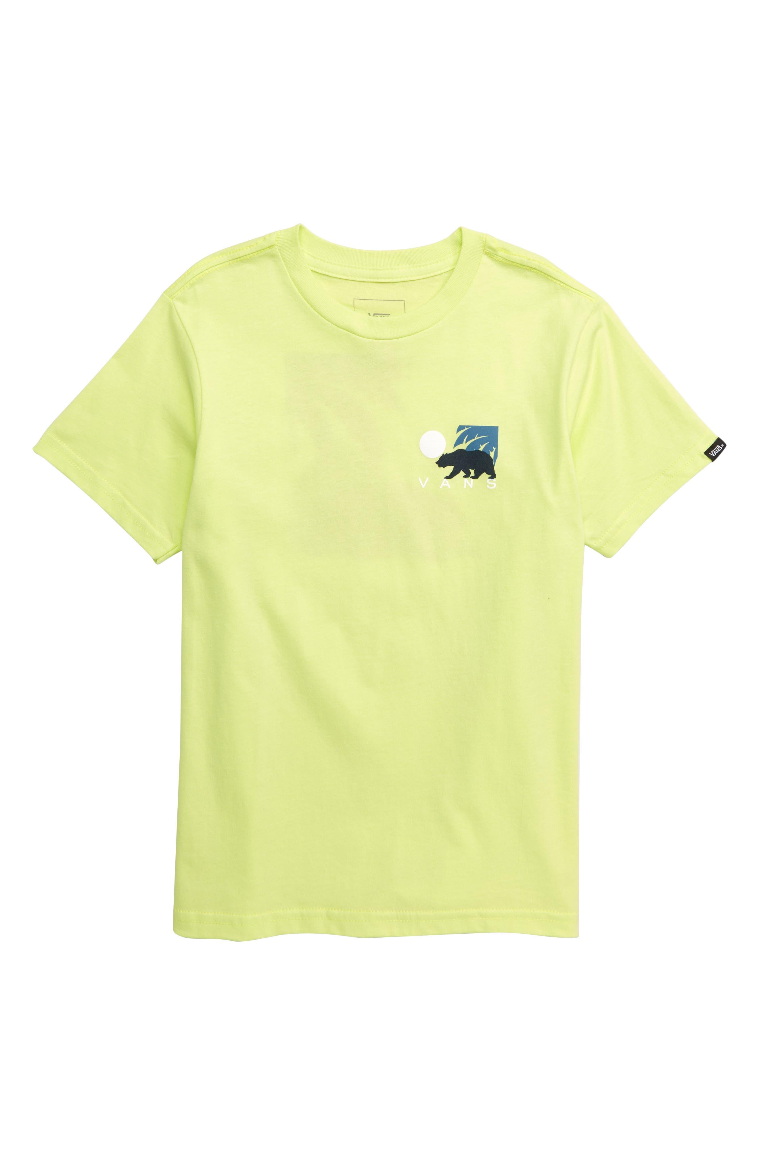 VANS, Cali Winter Graphic T-Shirt, Main thumbnail 1, color, SUNNY LIME