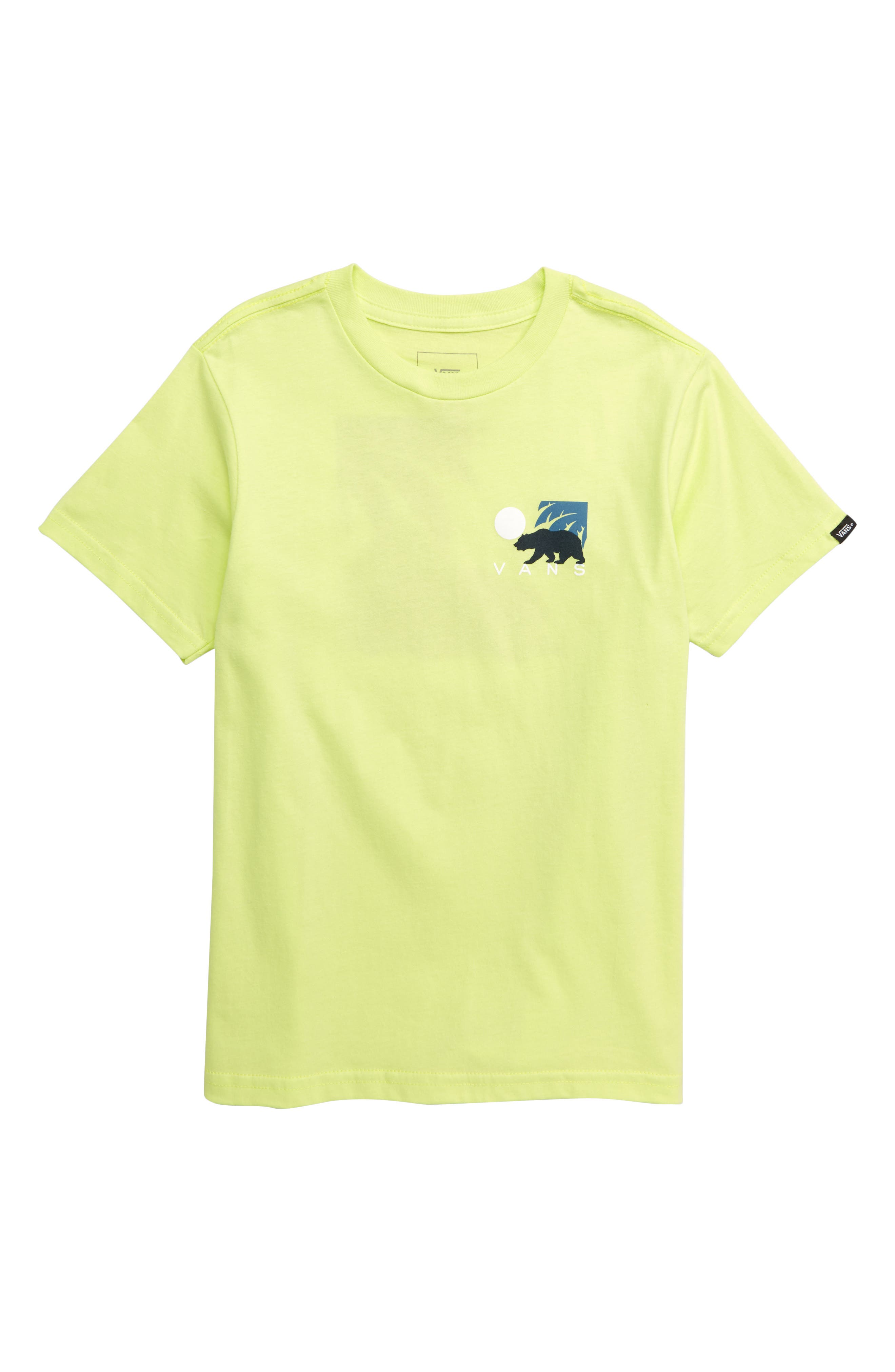 VANS Cali Winter Graphic T-Shirt, Main, color, SUNNY LIME