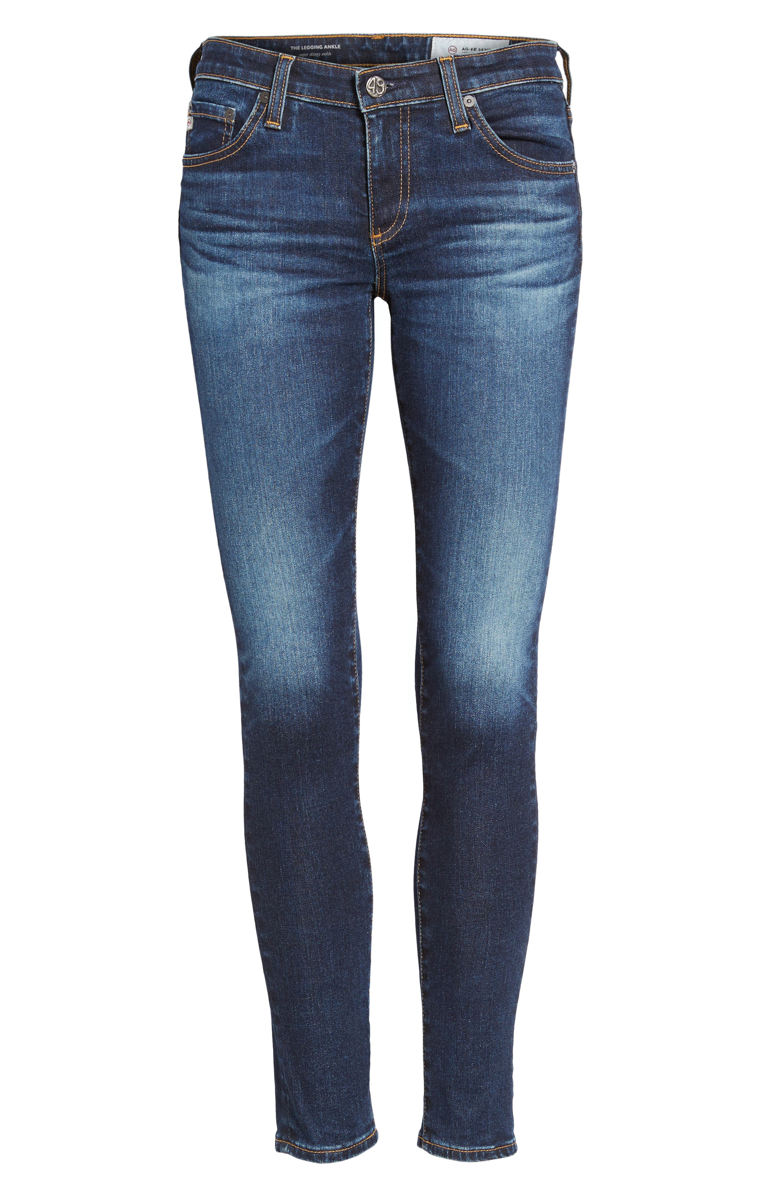 AG, The Legging Ankle Super Skinny Jeans, Alternate thumbnail 7, color, 04 YEARS RAPID