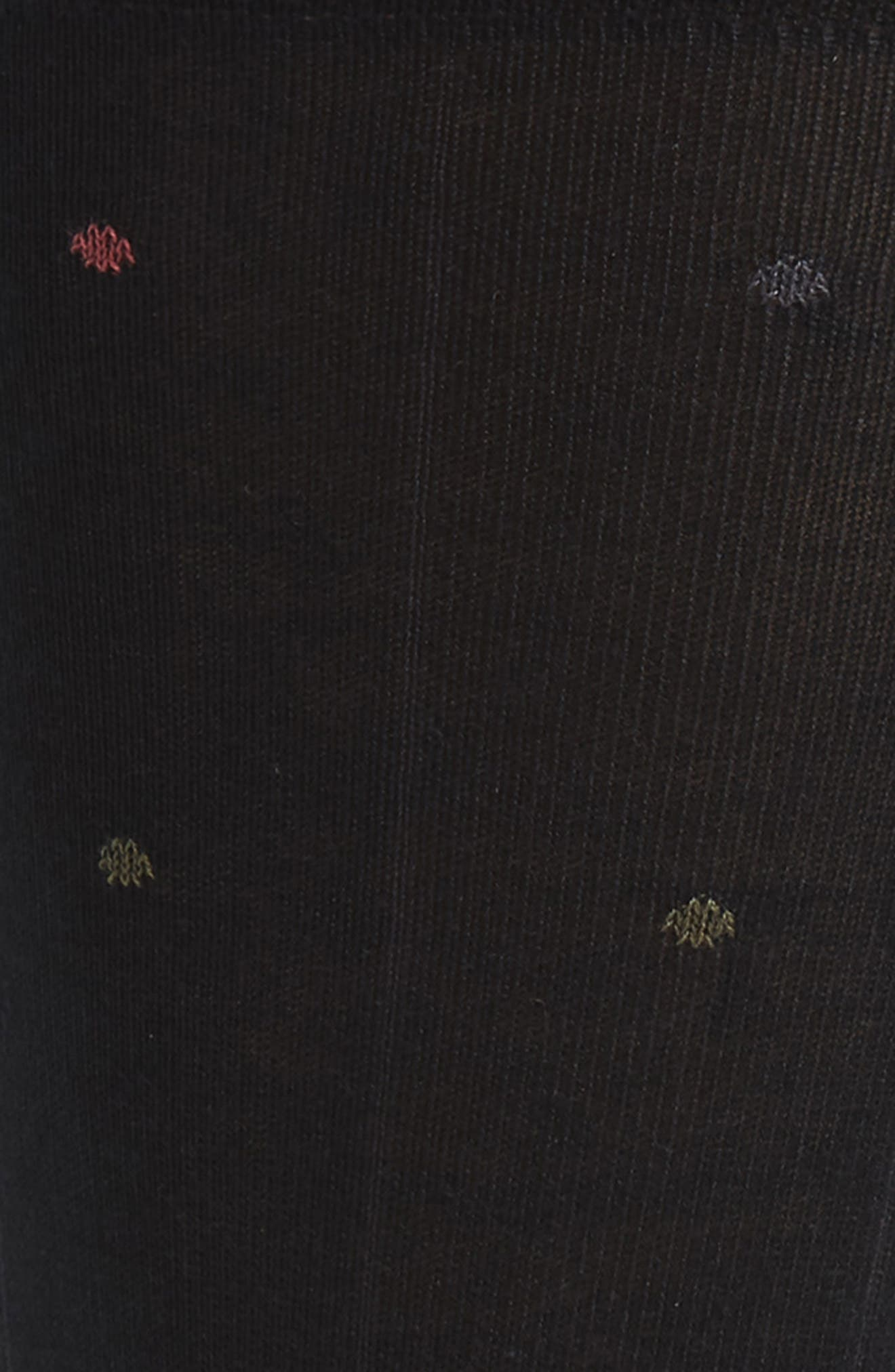 JOHN W. NORDSTROM<SUP>®</SUP>, Dot Socks, Alternate thumbnail 2, color, BLACK/ OLIVE
