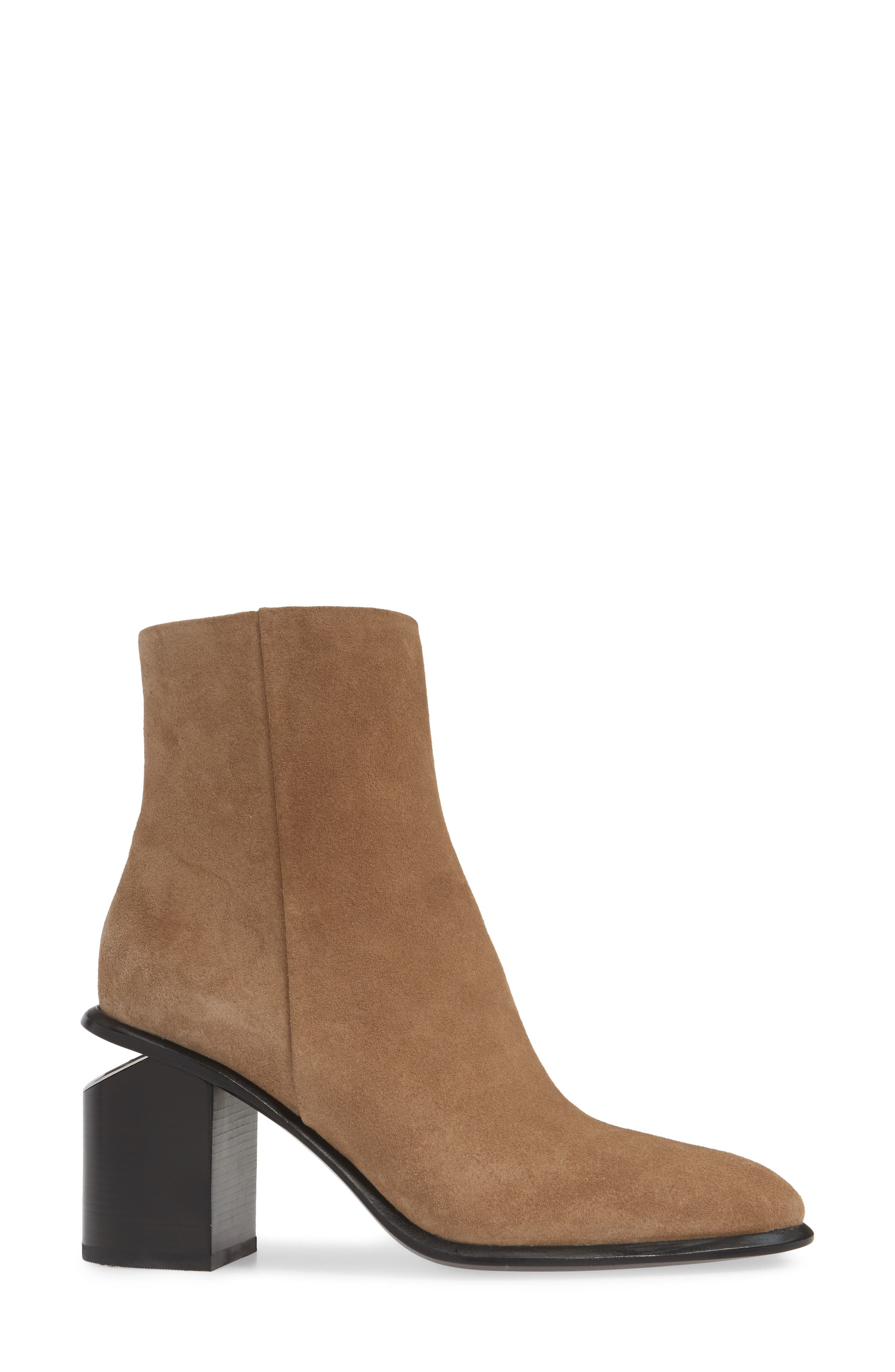 ALEXANDER WANG, Anna Mid Bootie, Alternate thumbnail 3, color, SAND SUEDE