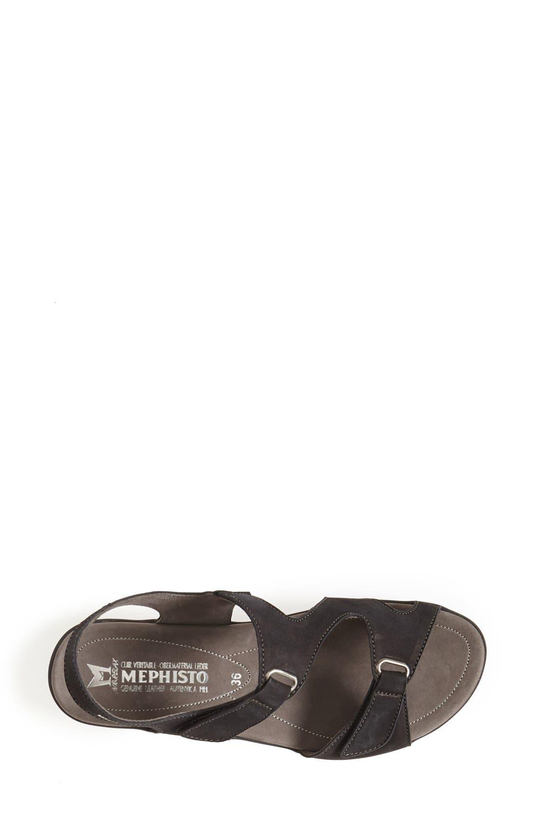 MEPHISTO, 'Paris' Slingback Sandal, Alternate thumbnail 6, color, BLACK