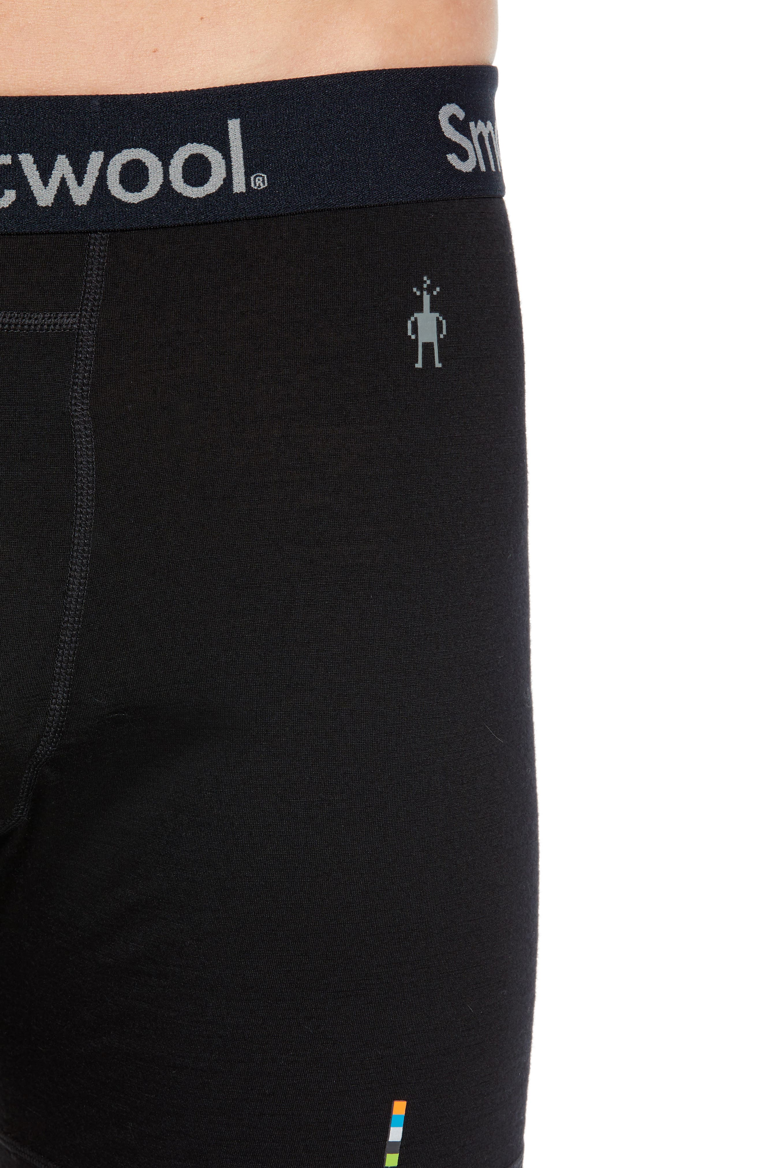 SMARTWOOL, 150 Merino Wool Blend Boxer Briefs, Alternate thumbnail 4, color, CHARCOAL