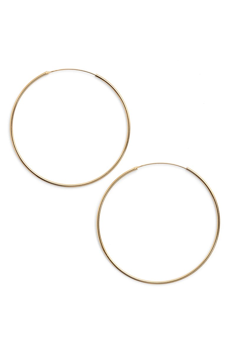 Argento Vivo Accessories EXTRA LARGE ENDLESS HOOP EARRINGS