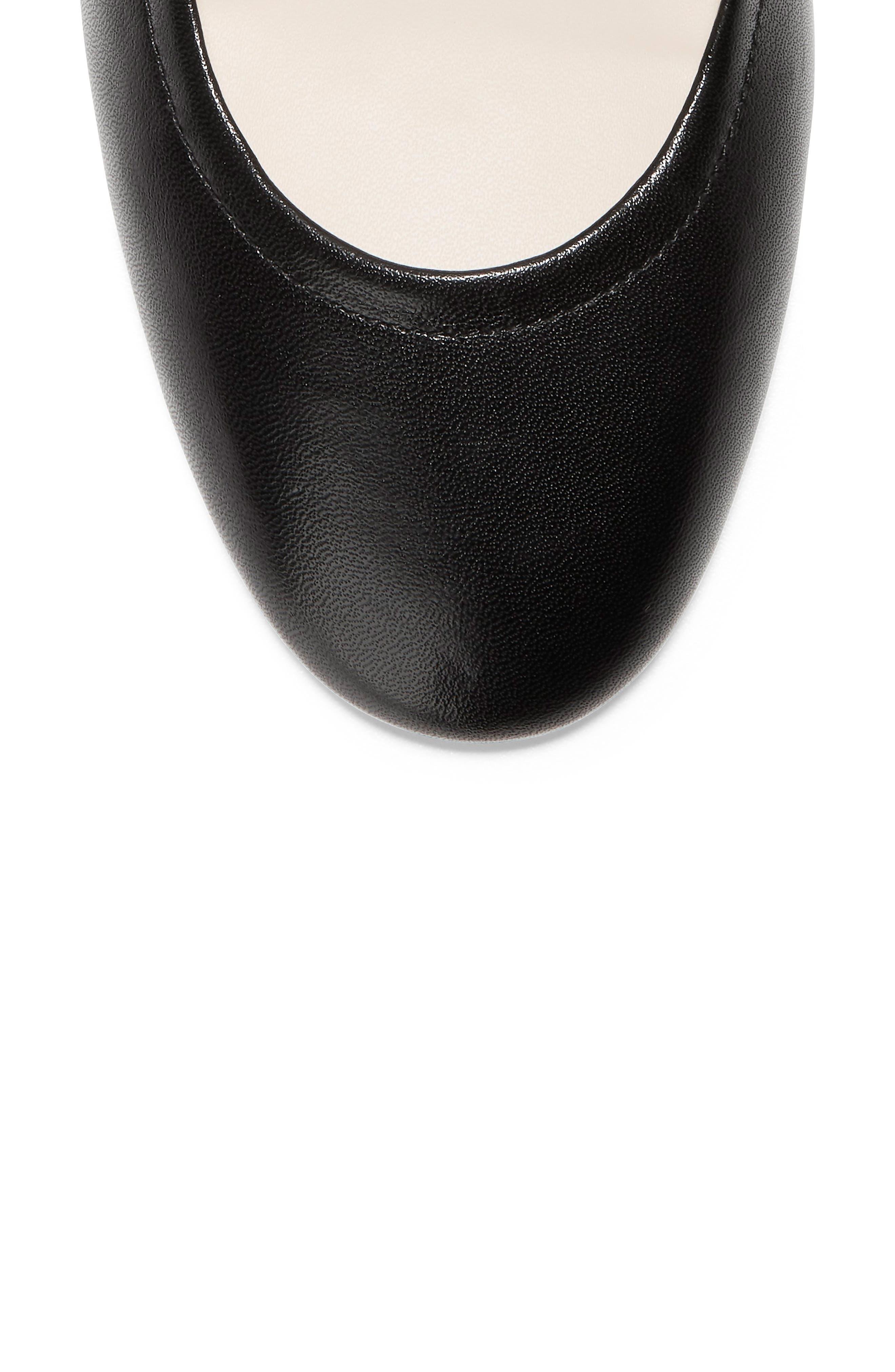 COLE HAAN, Avianna Pump, Alternate thumbnail 7, color, BLACK LEATHER