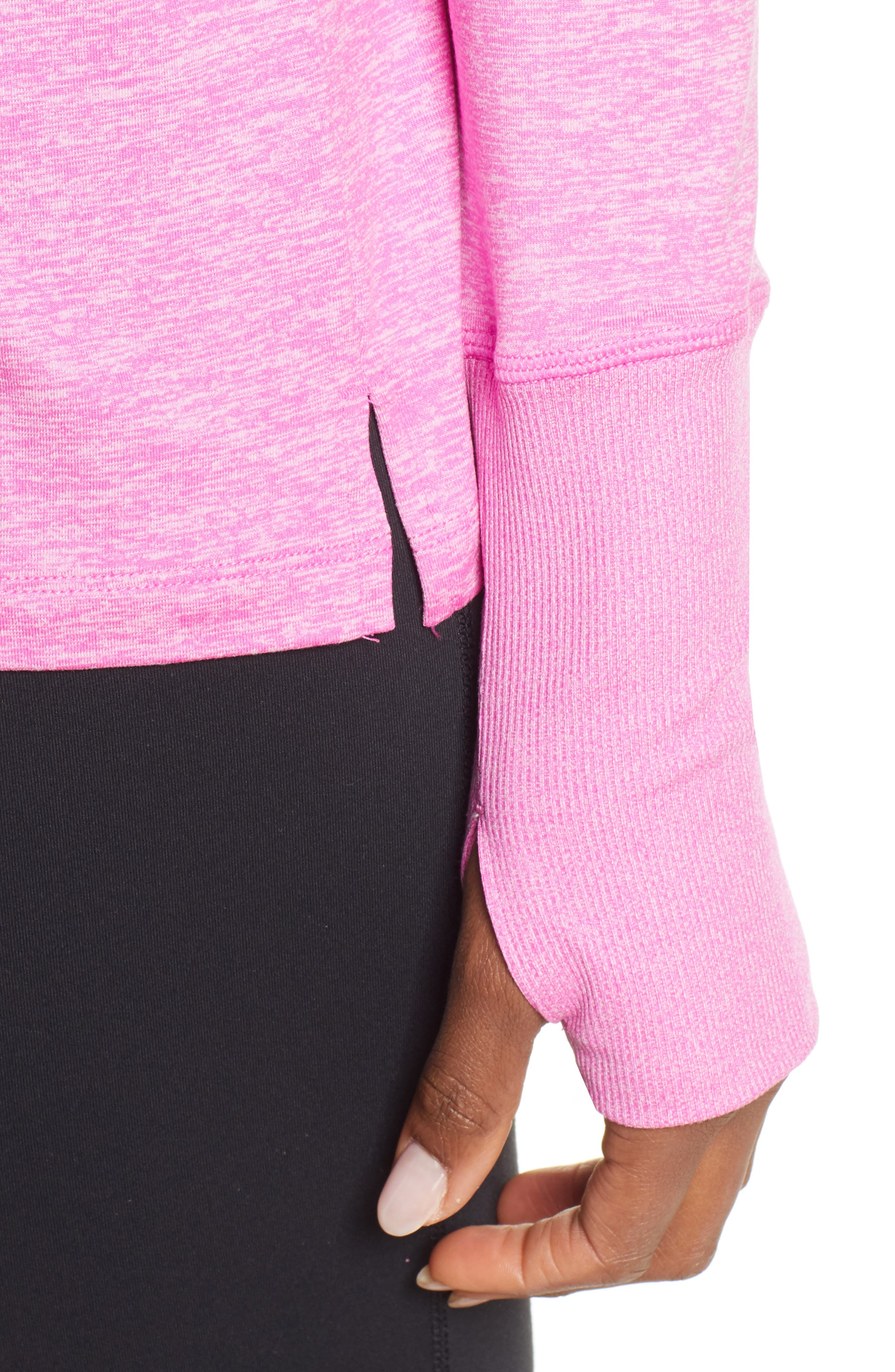 NIKE, Element Long-Sleeve Running Top, Alternate thumbnail 5, color, ACTIVE FUCHSIA/ PINK RISE