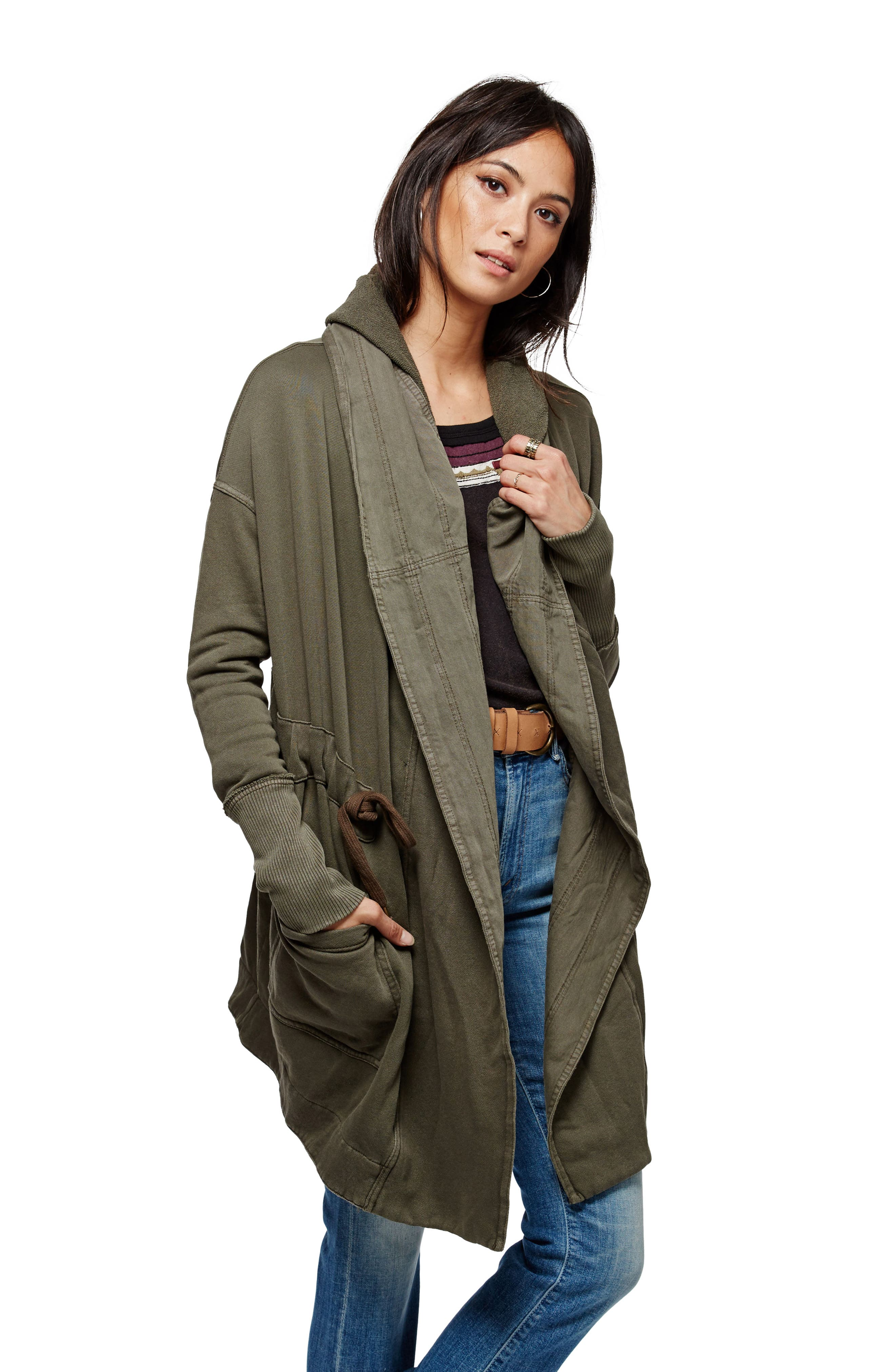 FREE PEOPLE, Brentwood Cotton Cardigan, Main thumbnail 1, color, 350