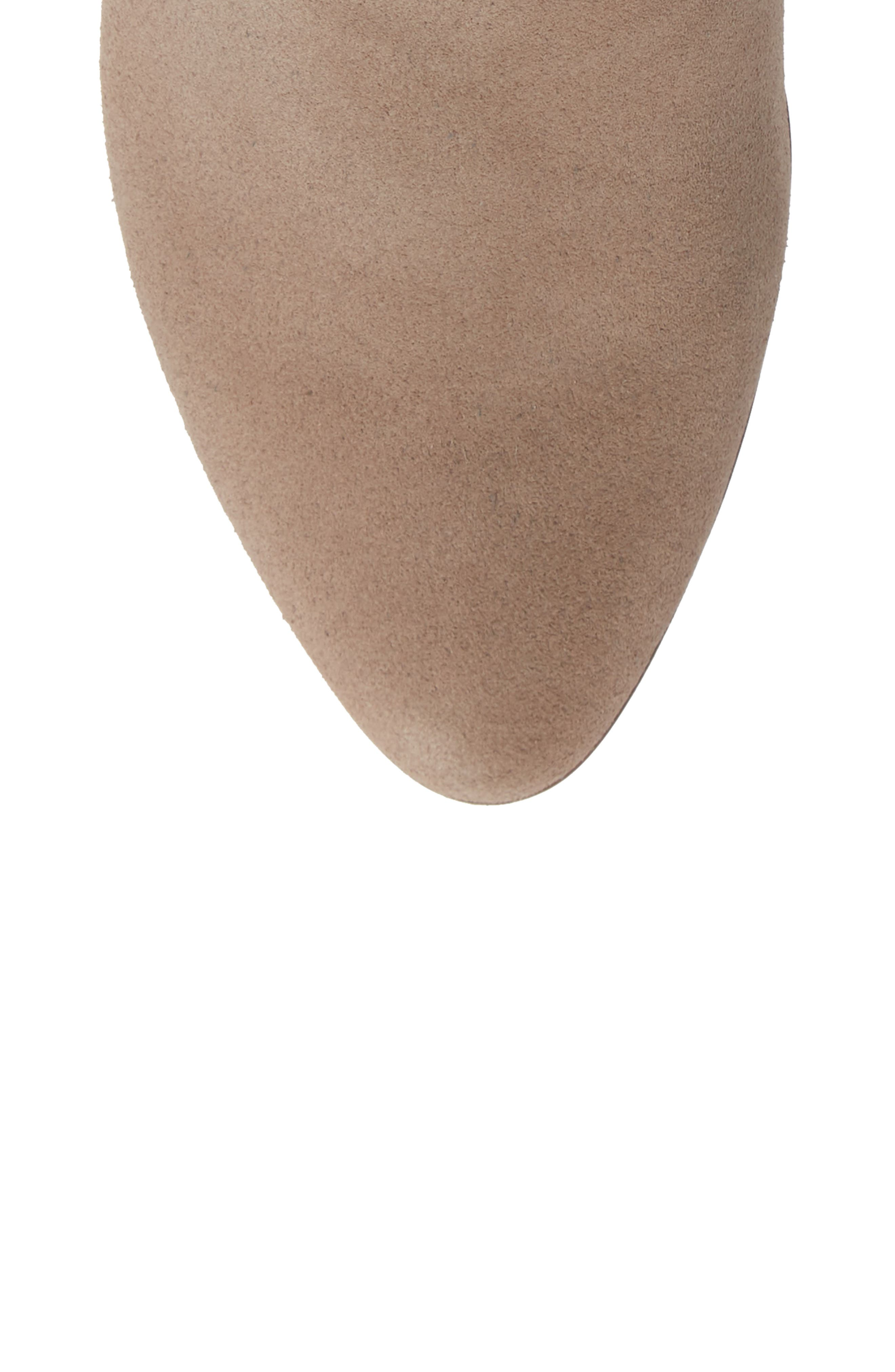 SOLE SOCIETY, Rhilynn Bootie, Alternate thumbnail 5, color, FALL TAUPE SUEDE