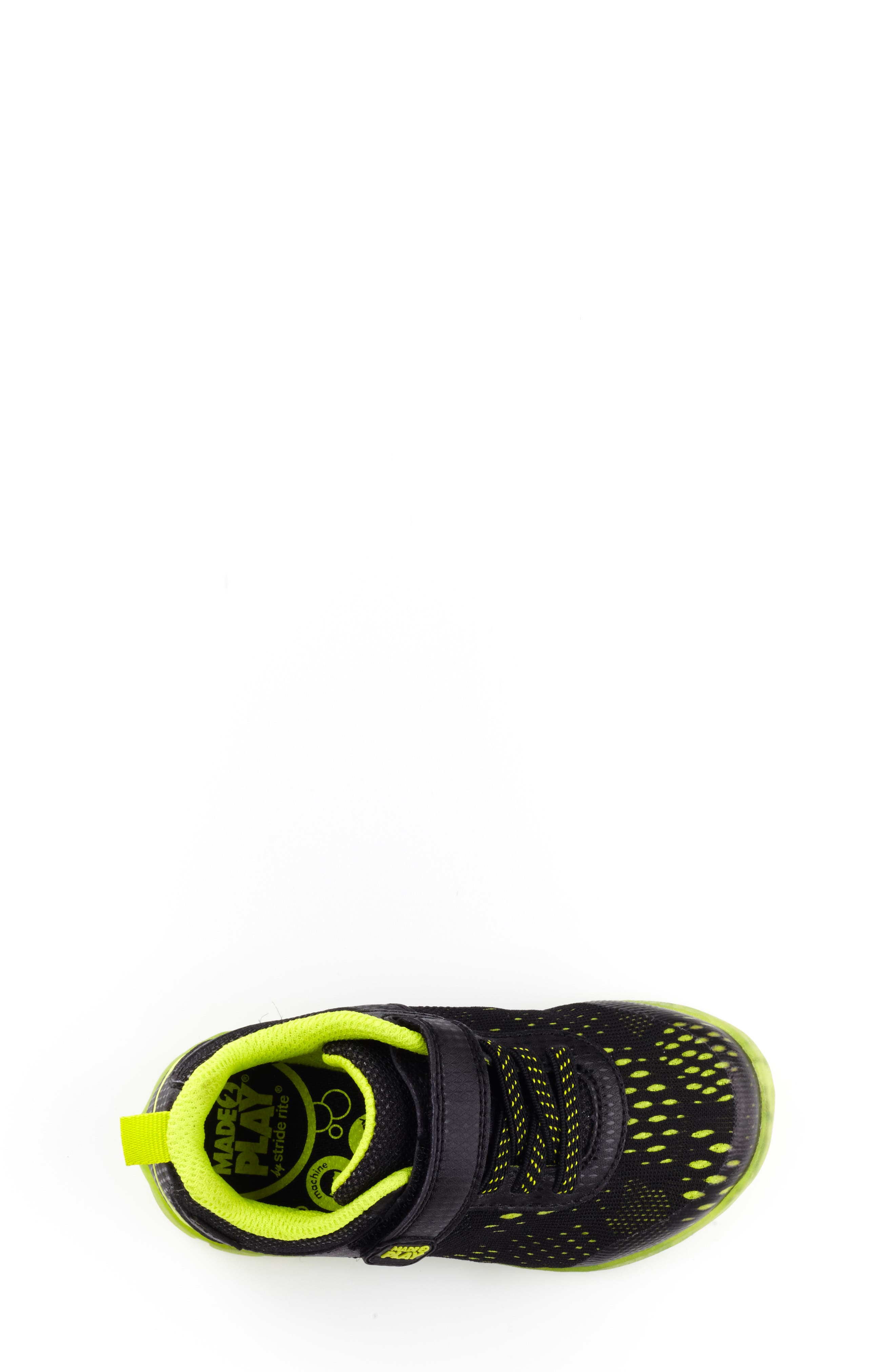 STRIDE RITE, Made2Play<sup>®</sup> Neo Light-Up Sneaker, Alternate thumbnail 4, color, 002