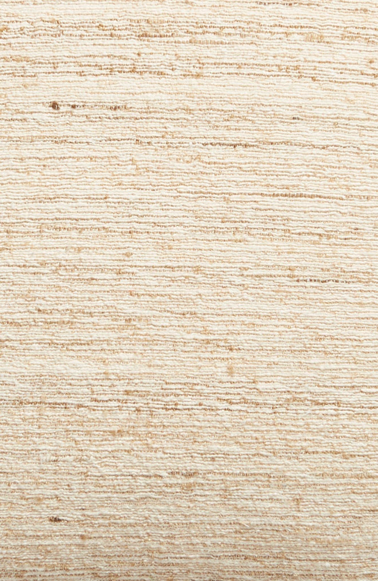 TREASURE & BOND, Pieced Cotton & Silk Accent Pillow, Alternate thumbnail 3, color, NATURAL MULTI