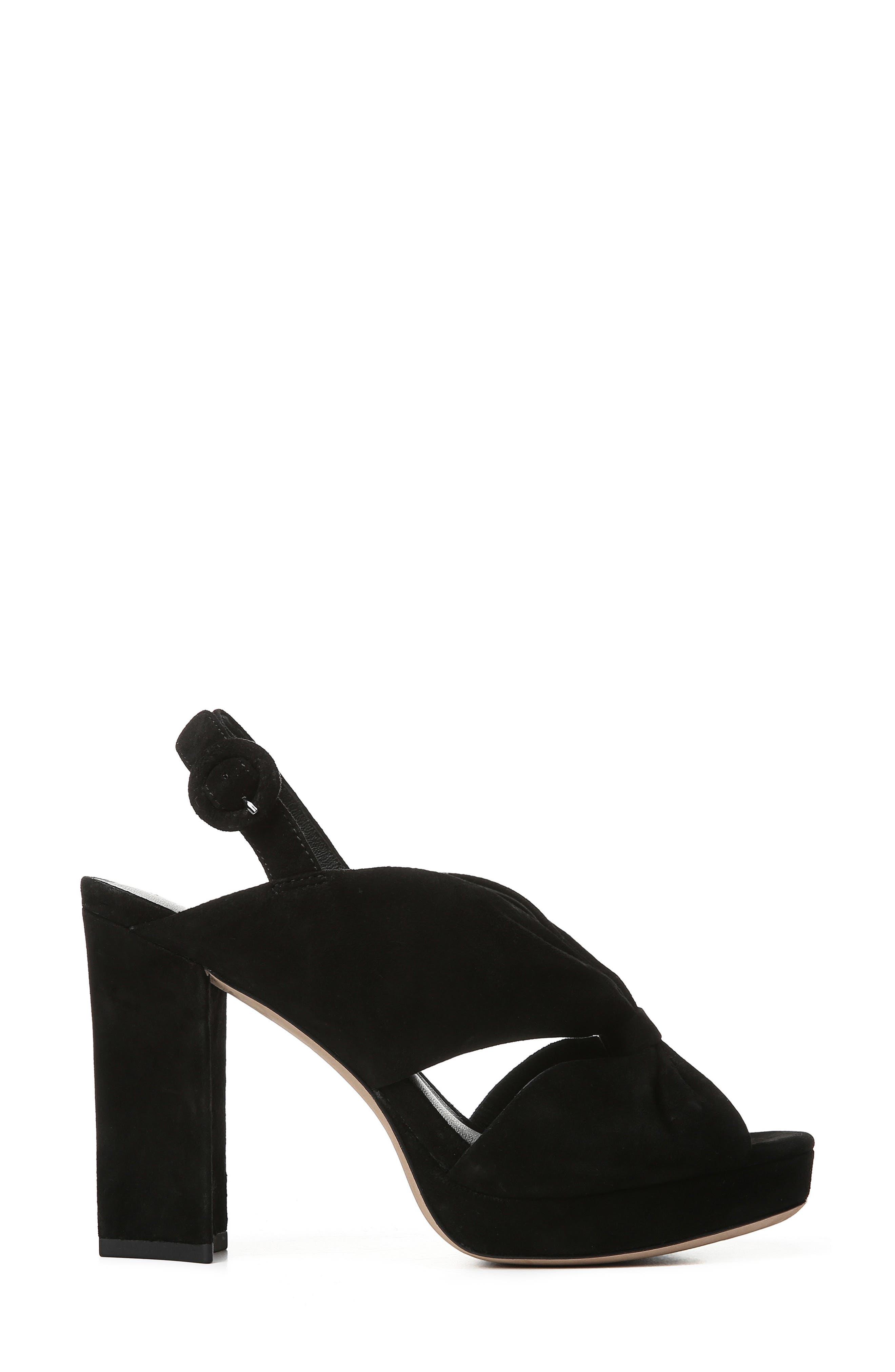 DIANE VON FURSTENBERG, Heidi Platform Sandal, Alternate thumbnail 3, color, BLACK