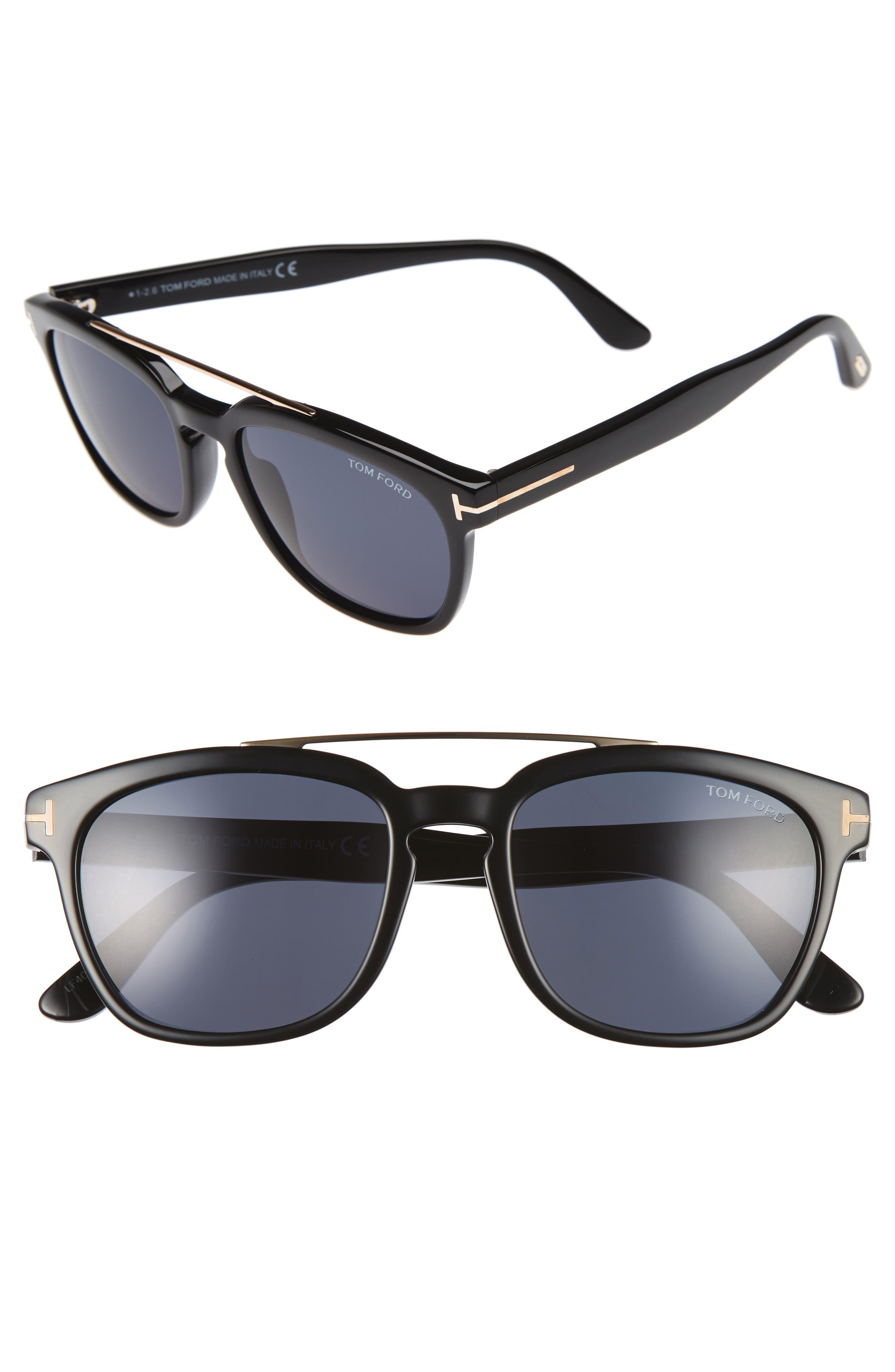 TOM FORD, Holt 54mm Sunglasses, Alternate thumbnail 2, color, 018