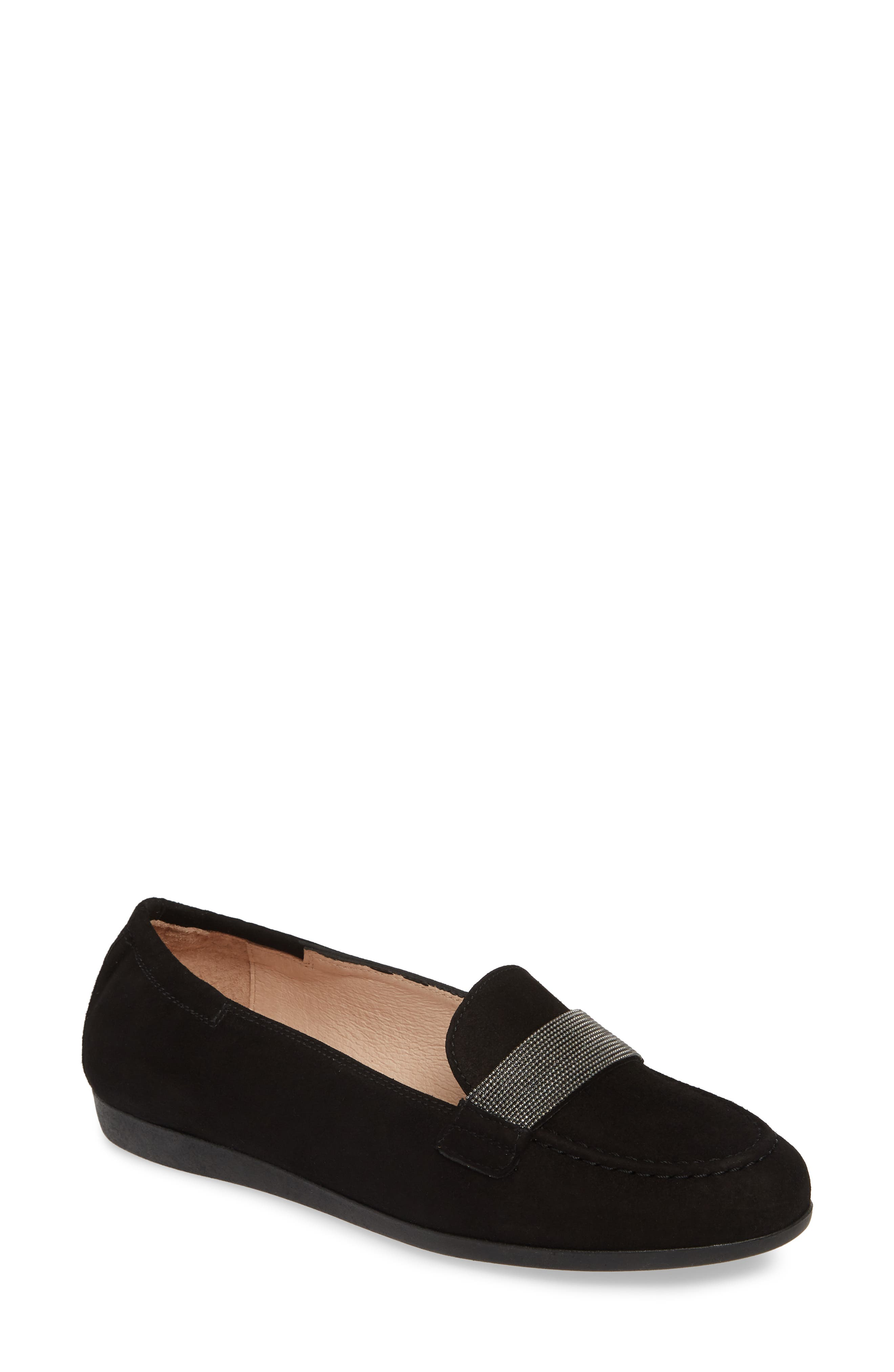 HISPANITAS Canady Loafer, Main, color, BLACK LEATHER
