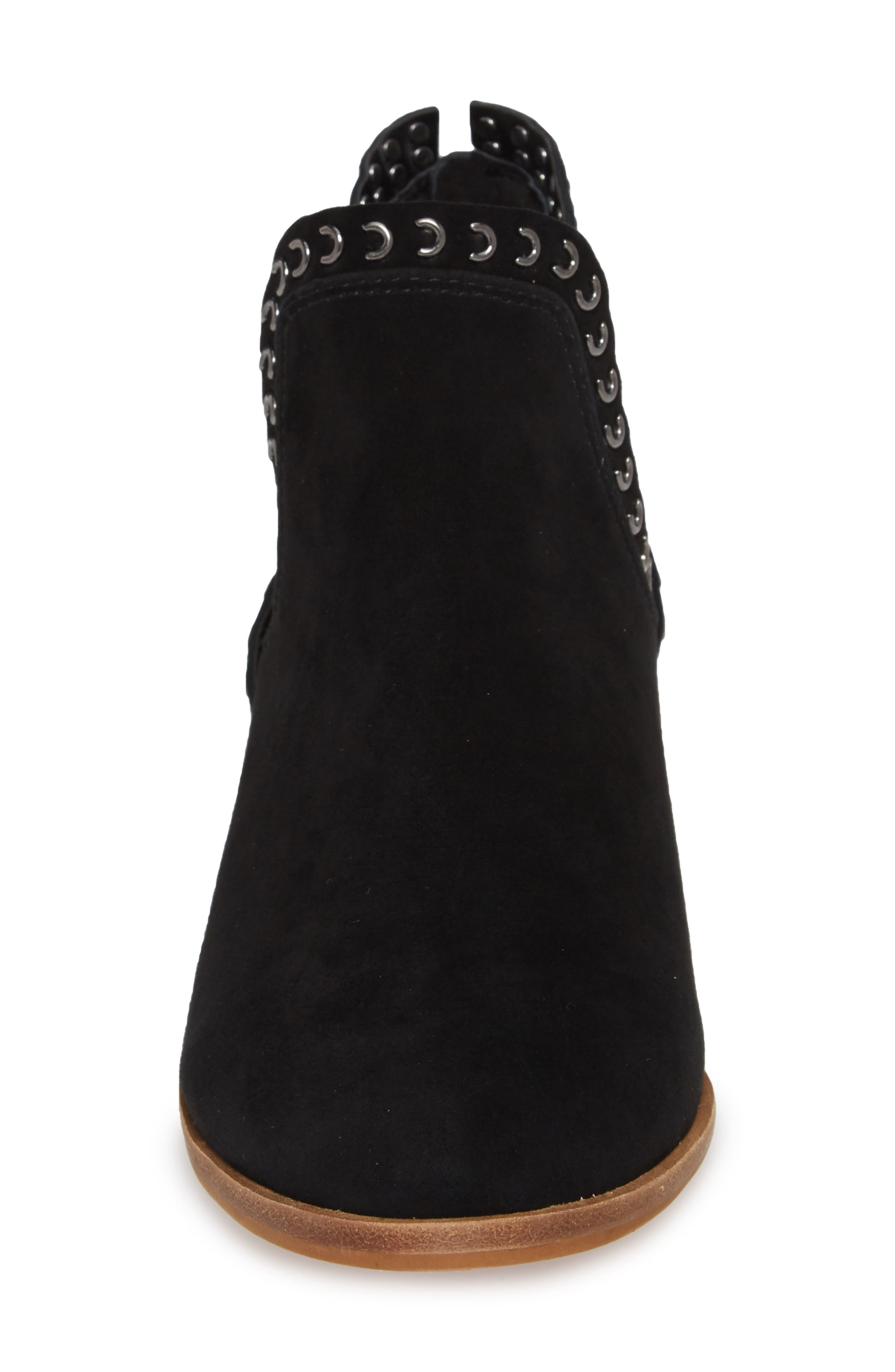 VINCE CAMUTO, Prafinta Boot, Alternate thumbnail 4, color, BLACK SUEDE