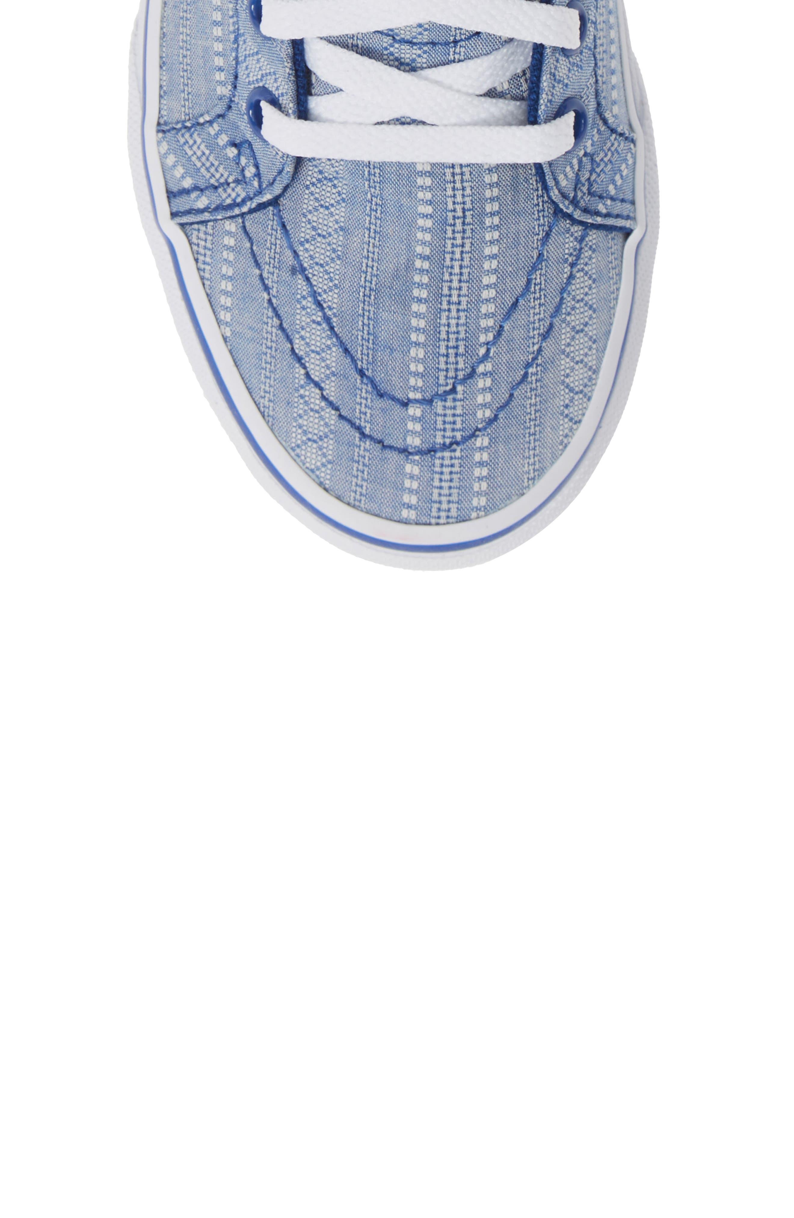 VANS, Sk8-Hi Zip Sneaker, Alternate thumbnail 5, color, TRUE BLUE/ TRUE WHITE