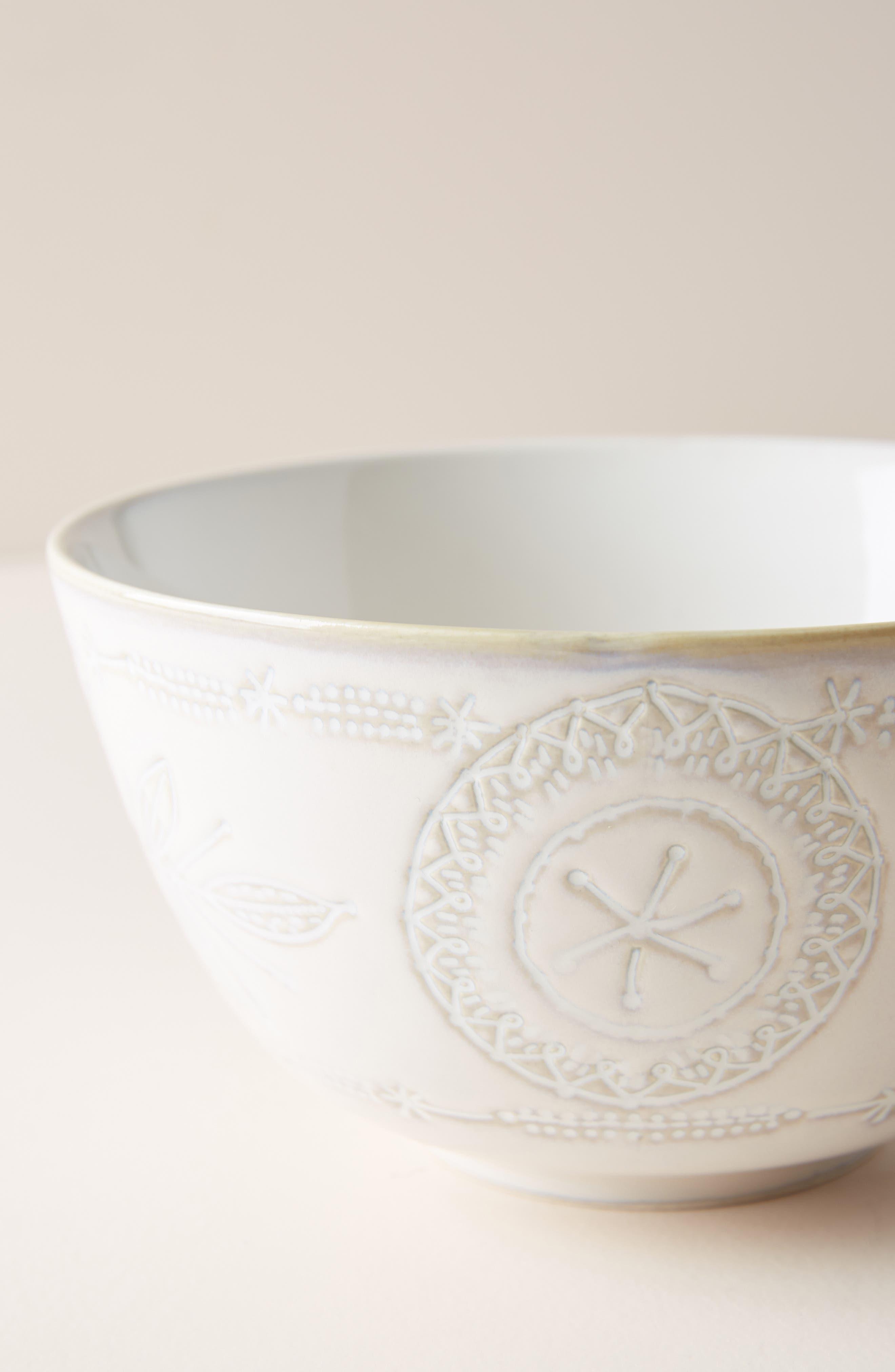 ANTHROPOLOGIE, Uret Stoneware Bowl, Alternate thumbnail 2, color, WHITE