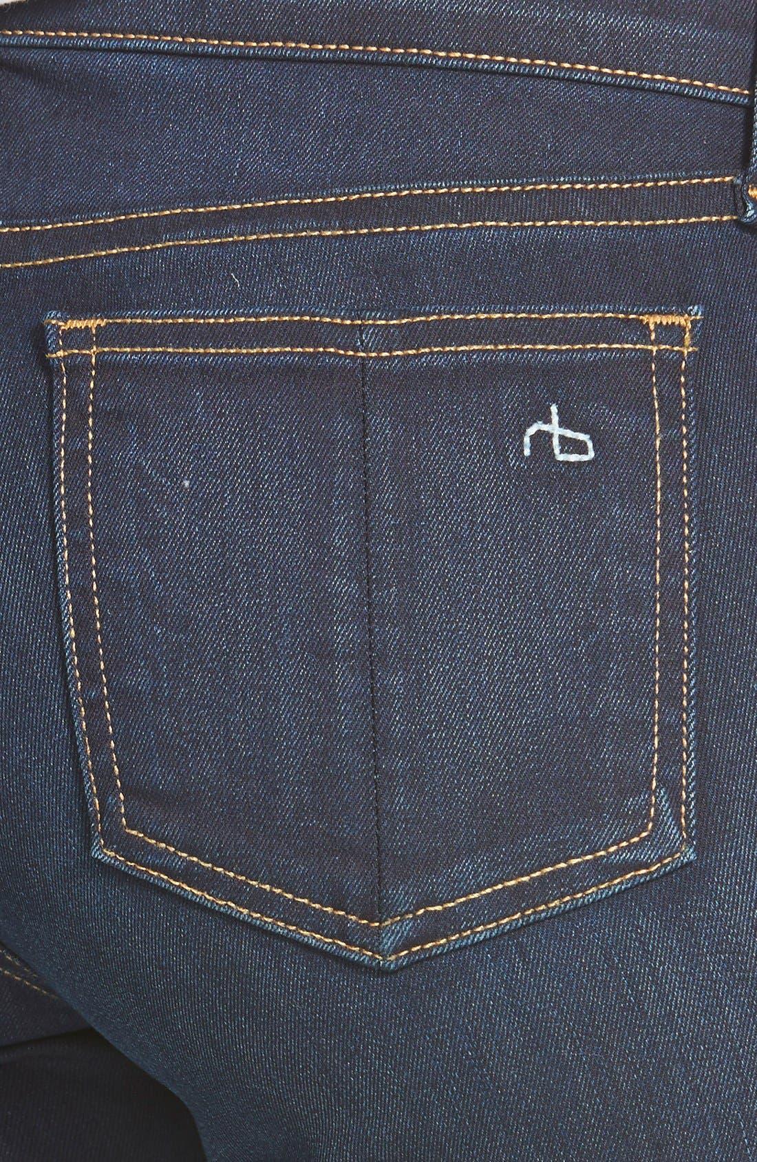 RAG & BONE, Skinny Stretch Jeans, Alternate thumbnail 12, color, BEDFORD