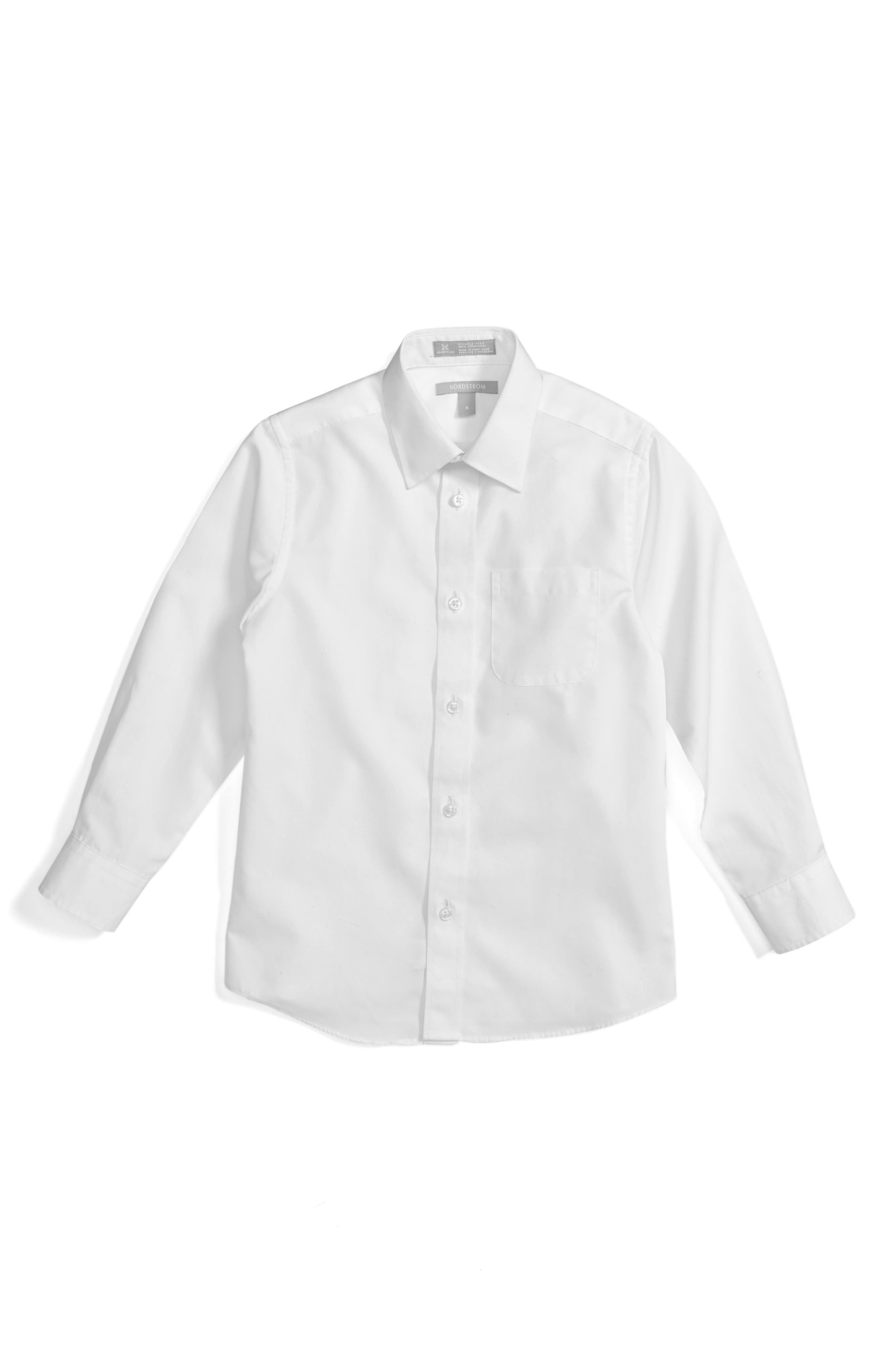 NORDSTROM, Smartcare<sup>™</sup> Dress Shirt, Alternate thumbnail 2, color, WHITE