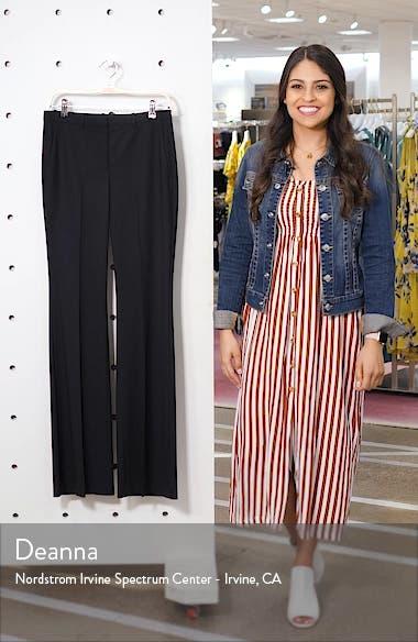 Demetria 2 Flare Leg Good Wool Suit Pants, sales video thumbnail