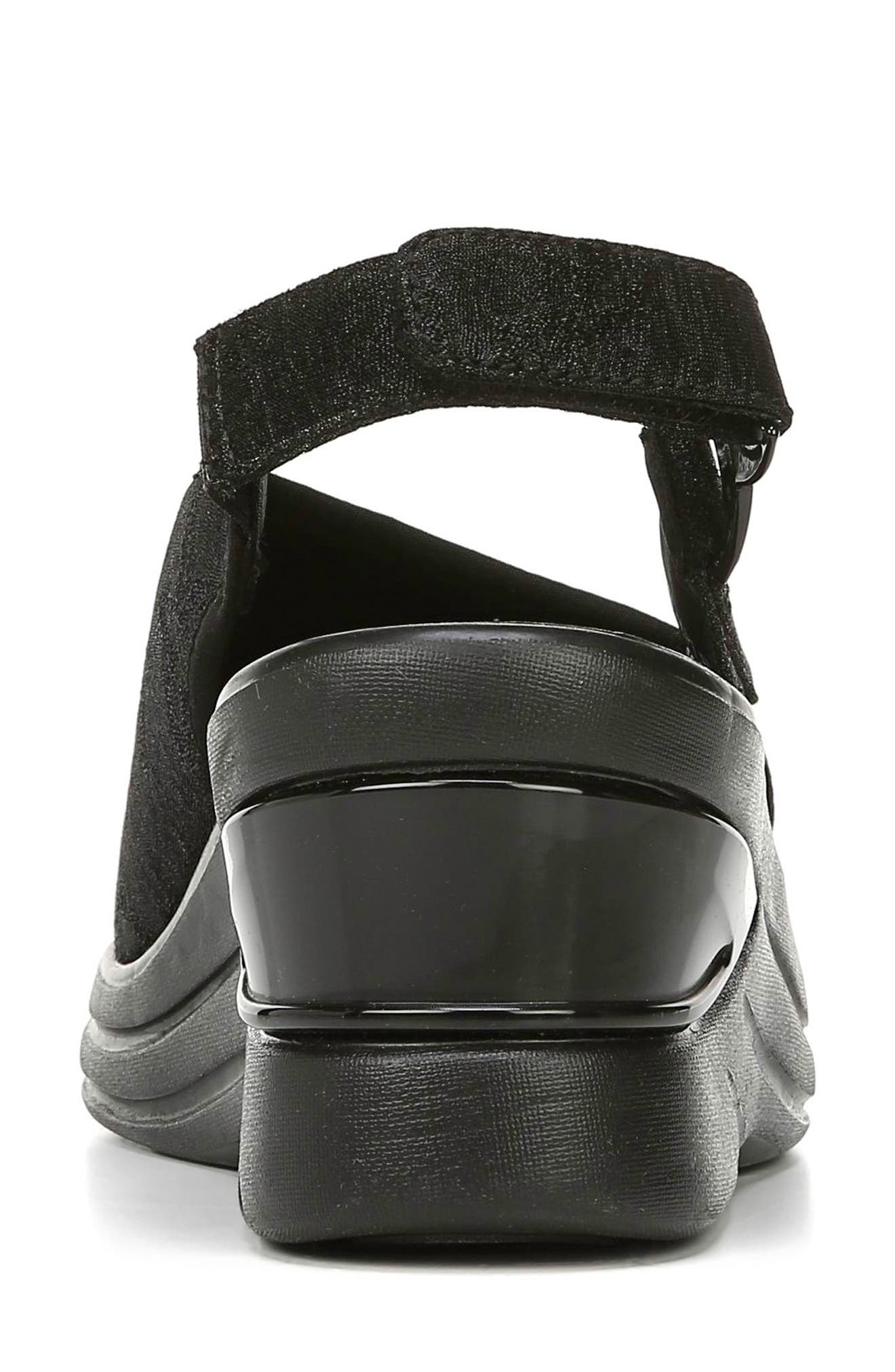 BZEES, Vivia Slingback Wedge Sandal, Alternate thumbnail 7, color, BLACK FABRIC