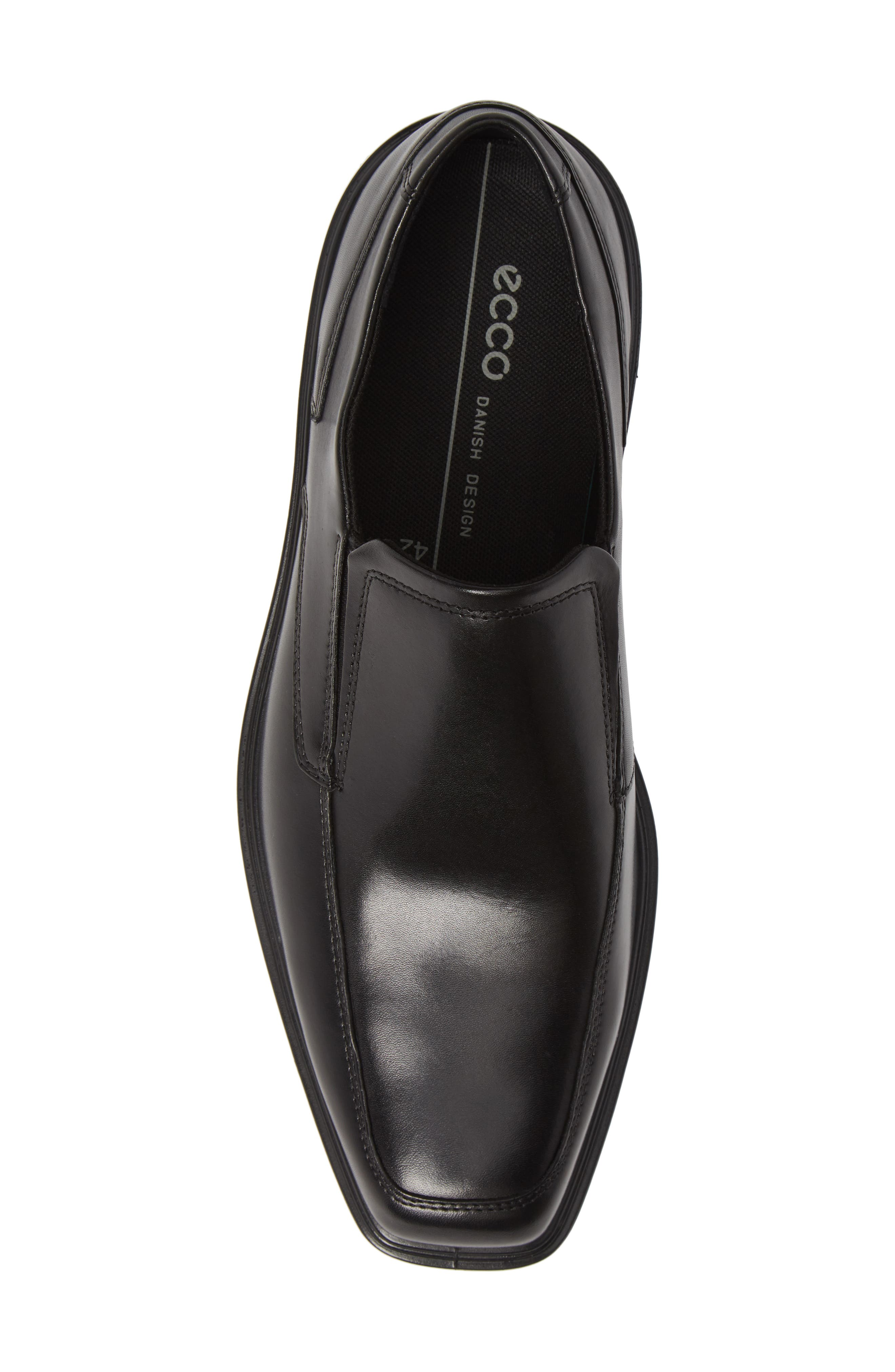 ECCO, Minneapolis Venetian Loafer, Alternate thumbnail 5, color, BLACK/BLACK LEATHER