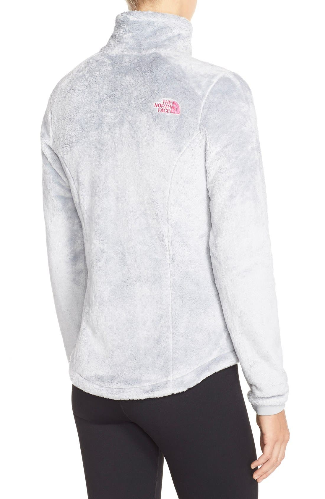 THE NORTH FACE, 'Osito 2 - Pink Ribbon' Fleece Jacket, Alternate thumbnail 4, color, 030