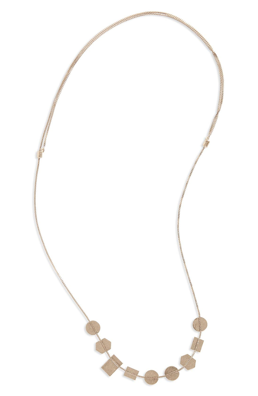MADEWELL Holding Pattern Necklace, Main, color, LIGHT SILVER OX