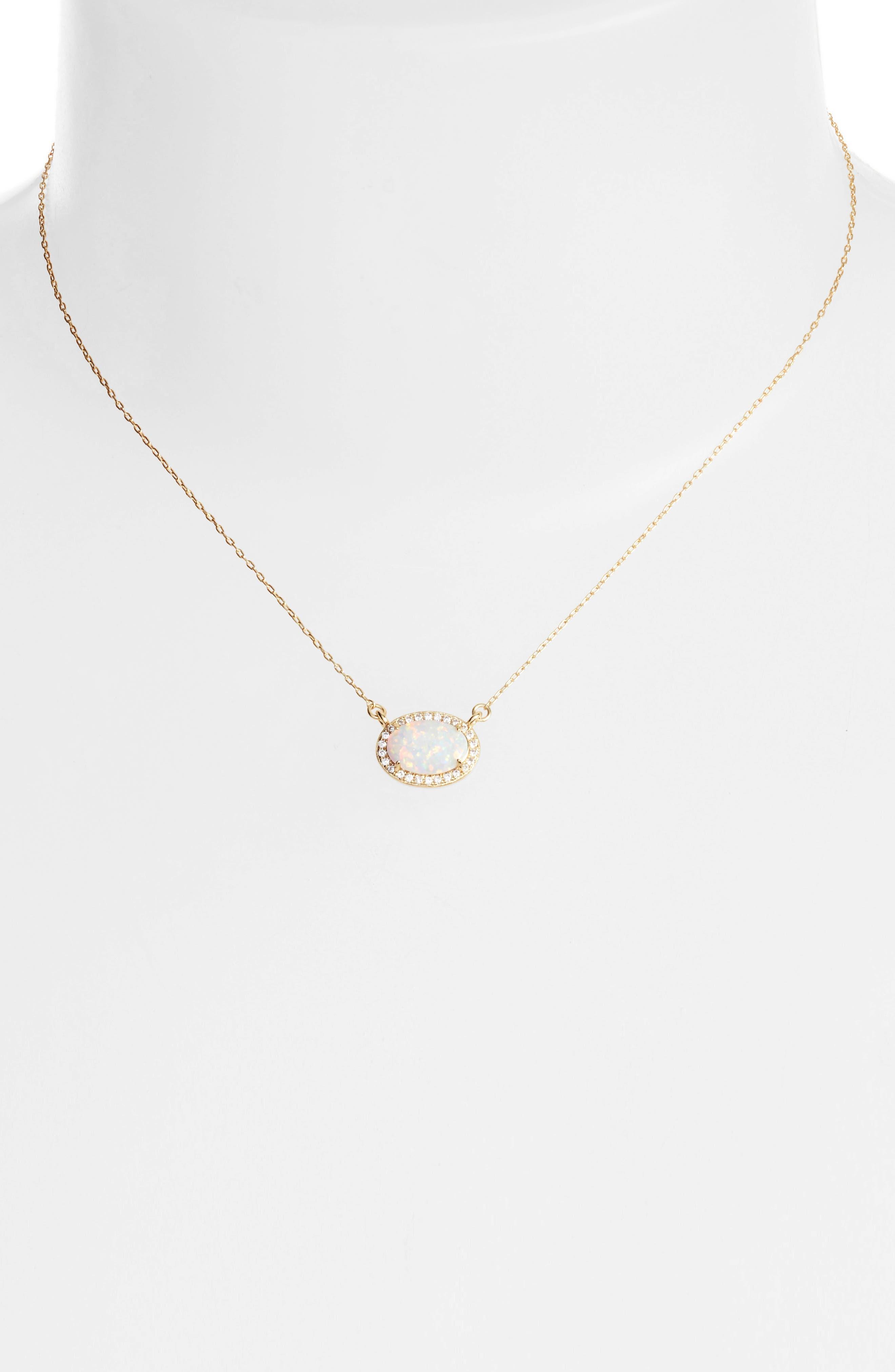 MELINDA MARIA, Ciera Opal Pendant Necklace, Alternate thumbnail 2, color, 710