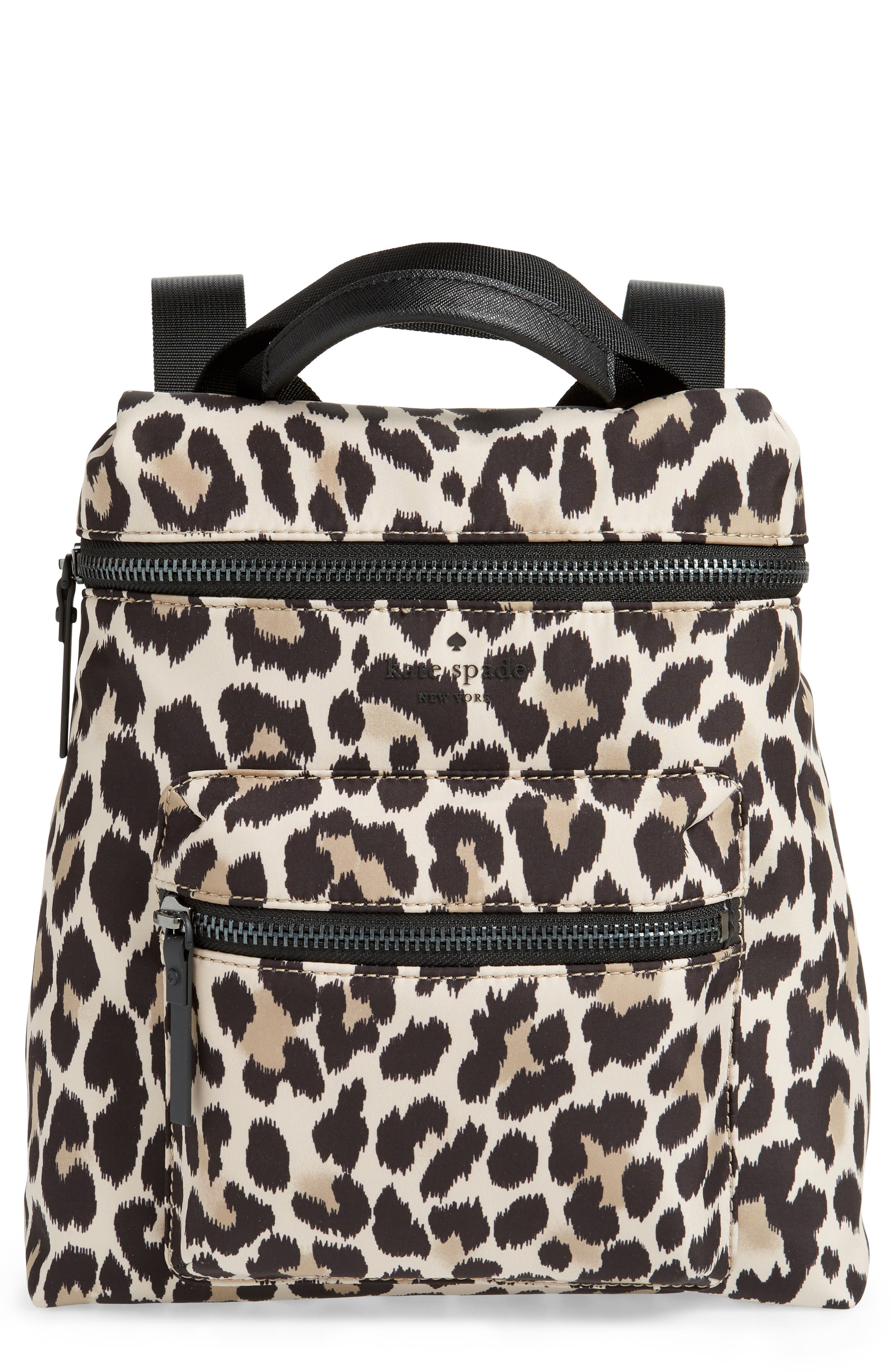 KATE SPADE NEW YORK mini that's the spirit nylon convertible backpack, Main, color, 001