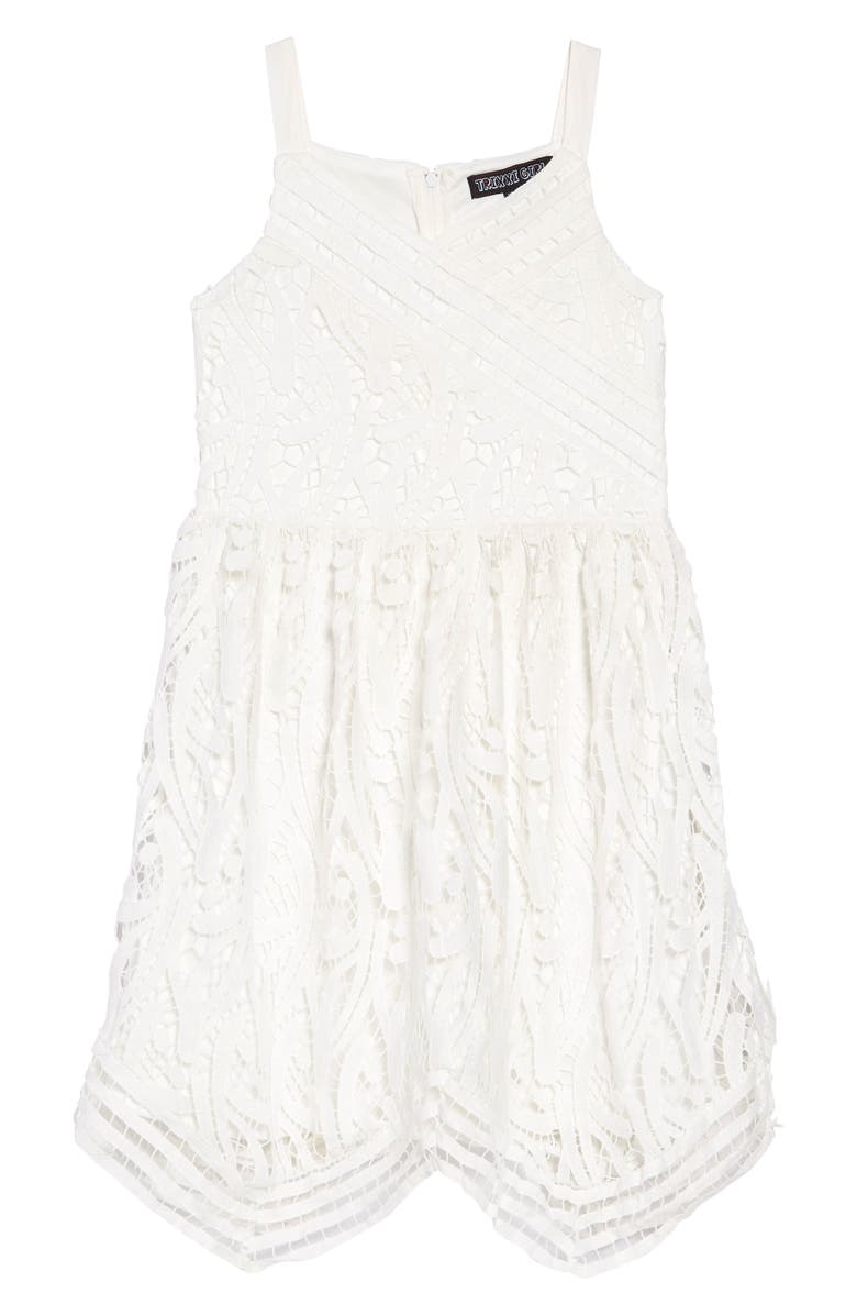 3ea396fe4e7 Trixxi Guipure Lace Dress (Big Girls) | Nordstrom