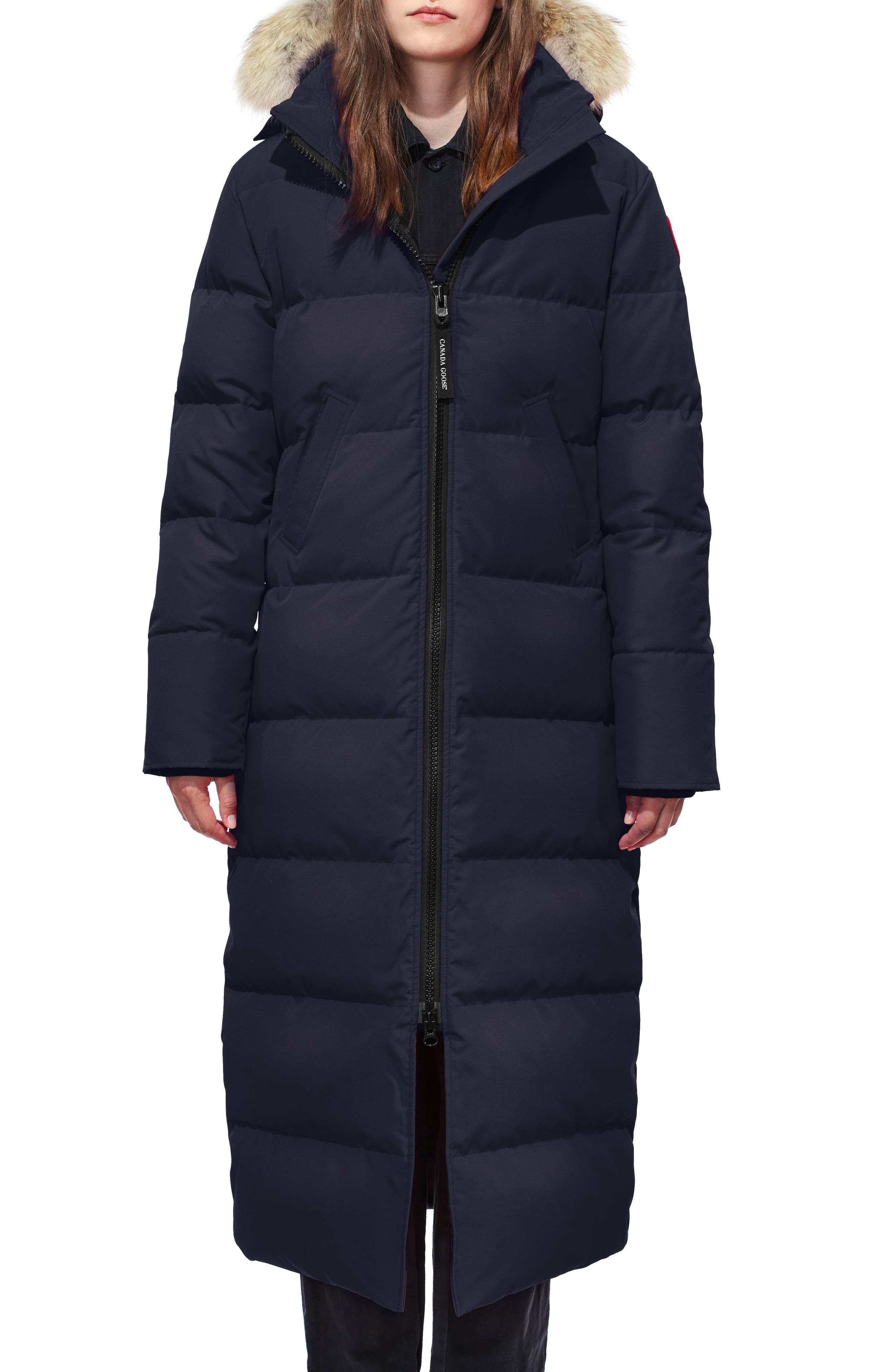 CANADA GOOSE, Mystique Fusion Fit Down Parka with Genuine Coyote Fur, Main thumbnail 1, color, ADMIRAL BLUE