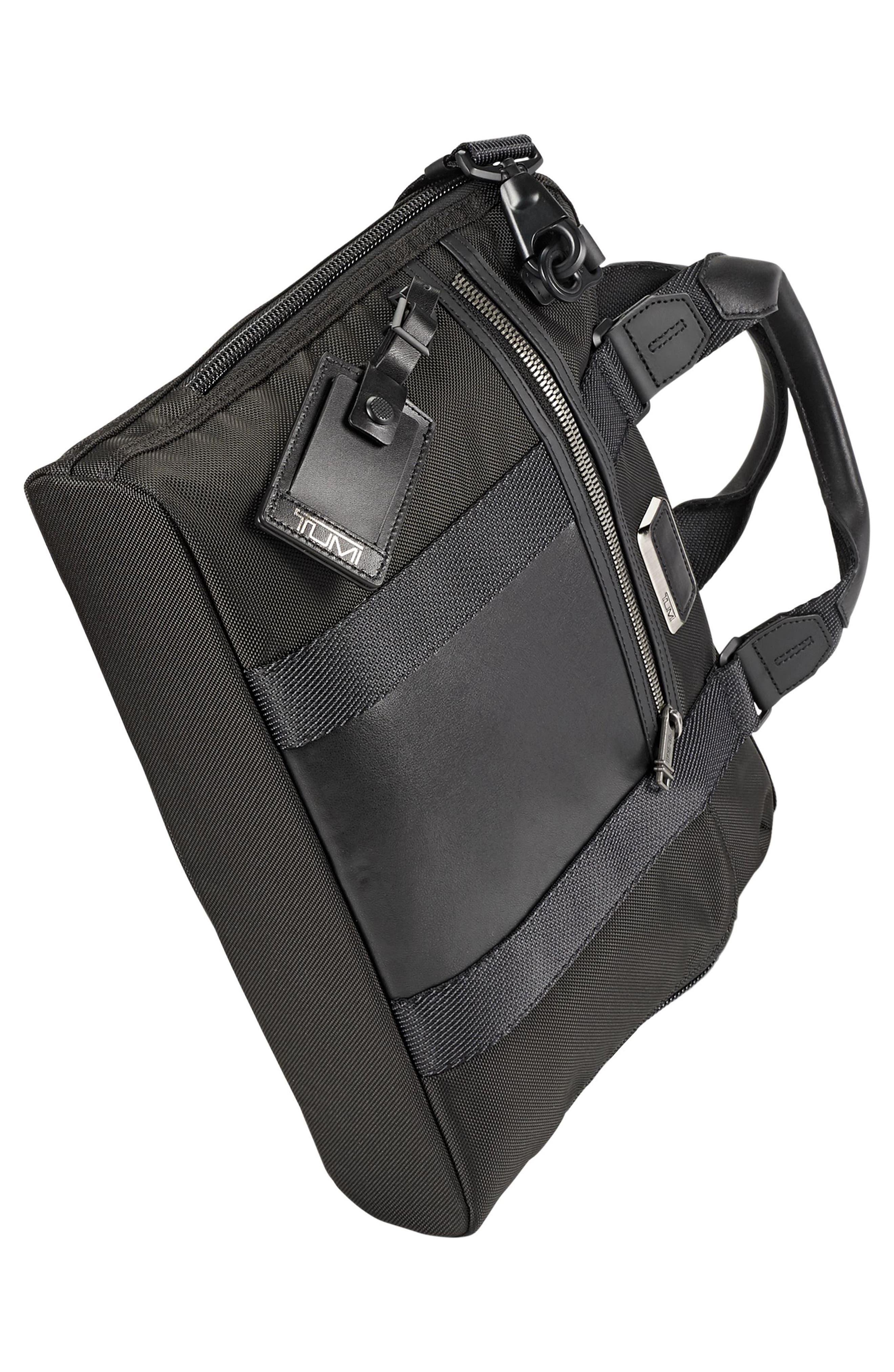 TUMI, Alpha Bravo - Charleston Briefcase, Alternate thumbnail 4, color, BLACK