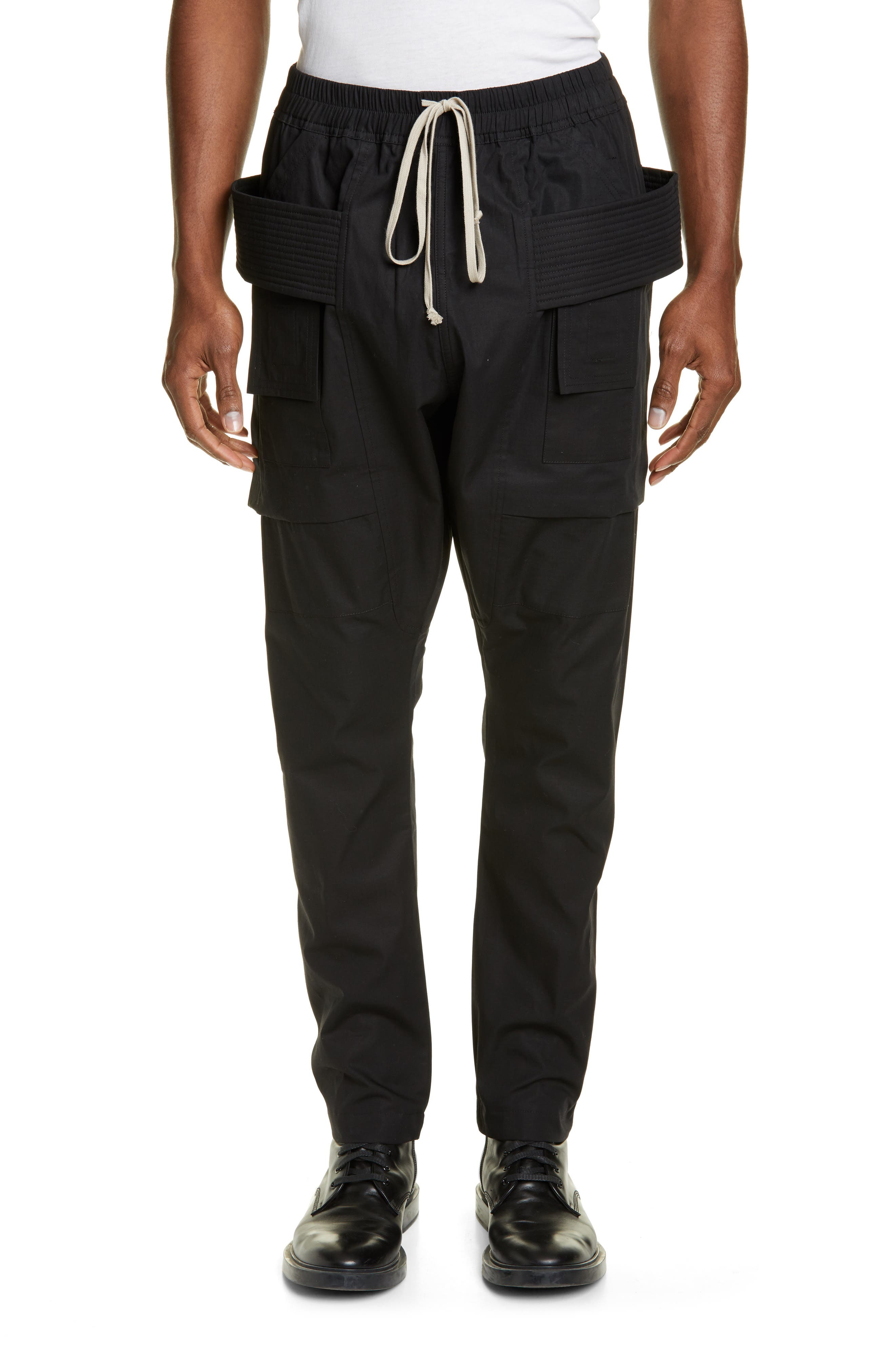 Rick Owens Drkshdw Creatch Ripstop Cargo Pants, Black