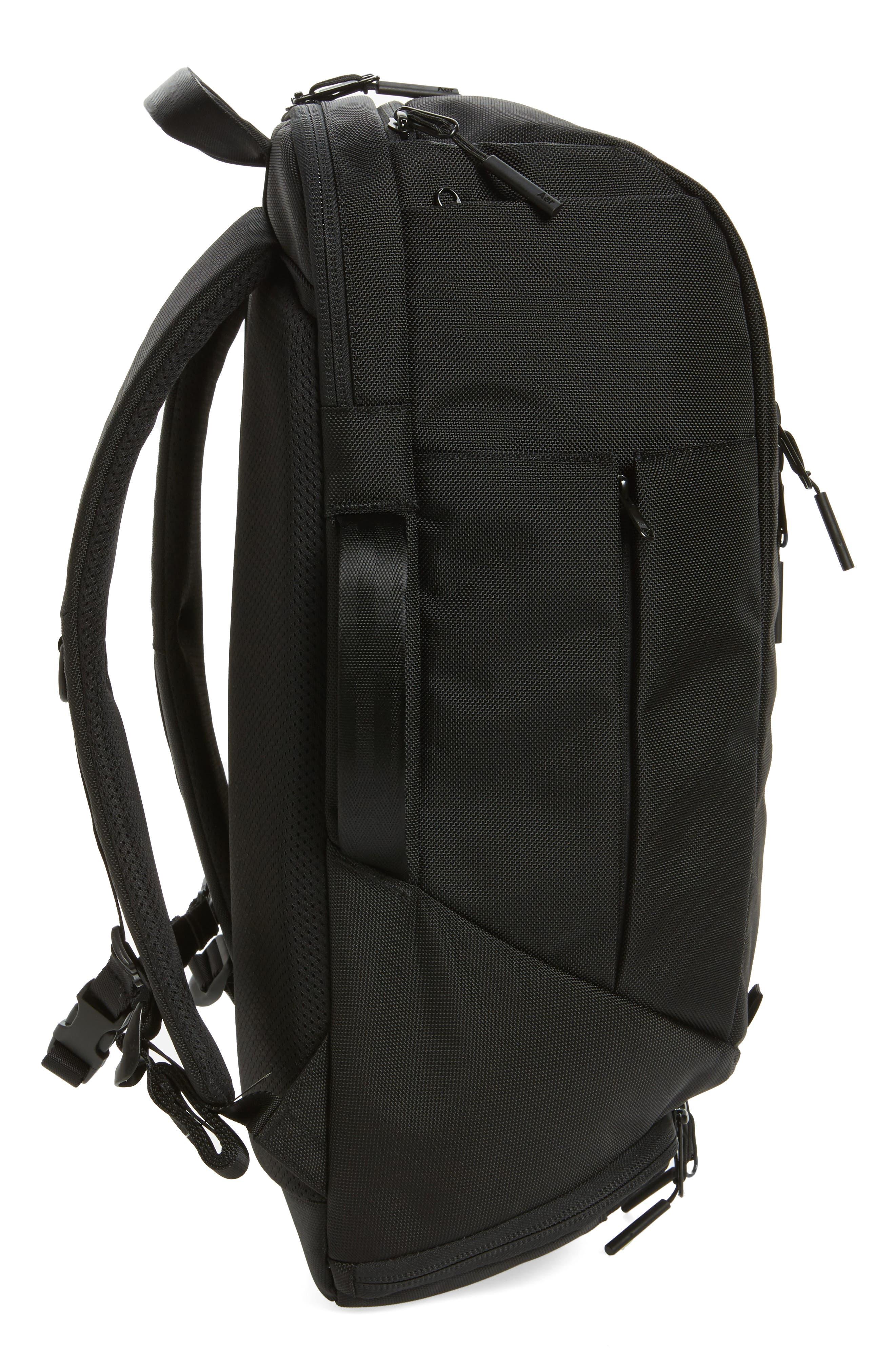 AER, Duffel Pack 2 Convertible Backpack, Alternate thumbnail 6, color, BLACK