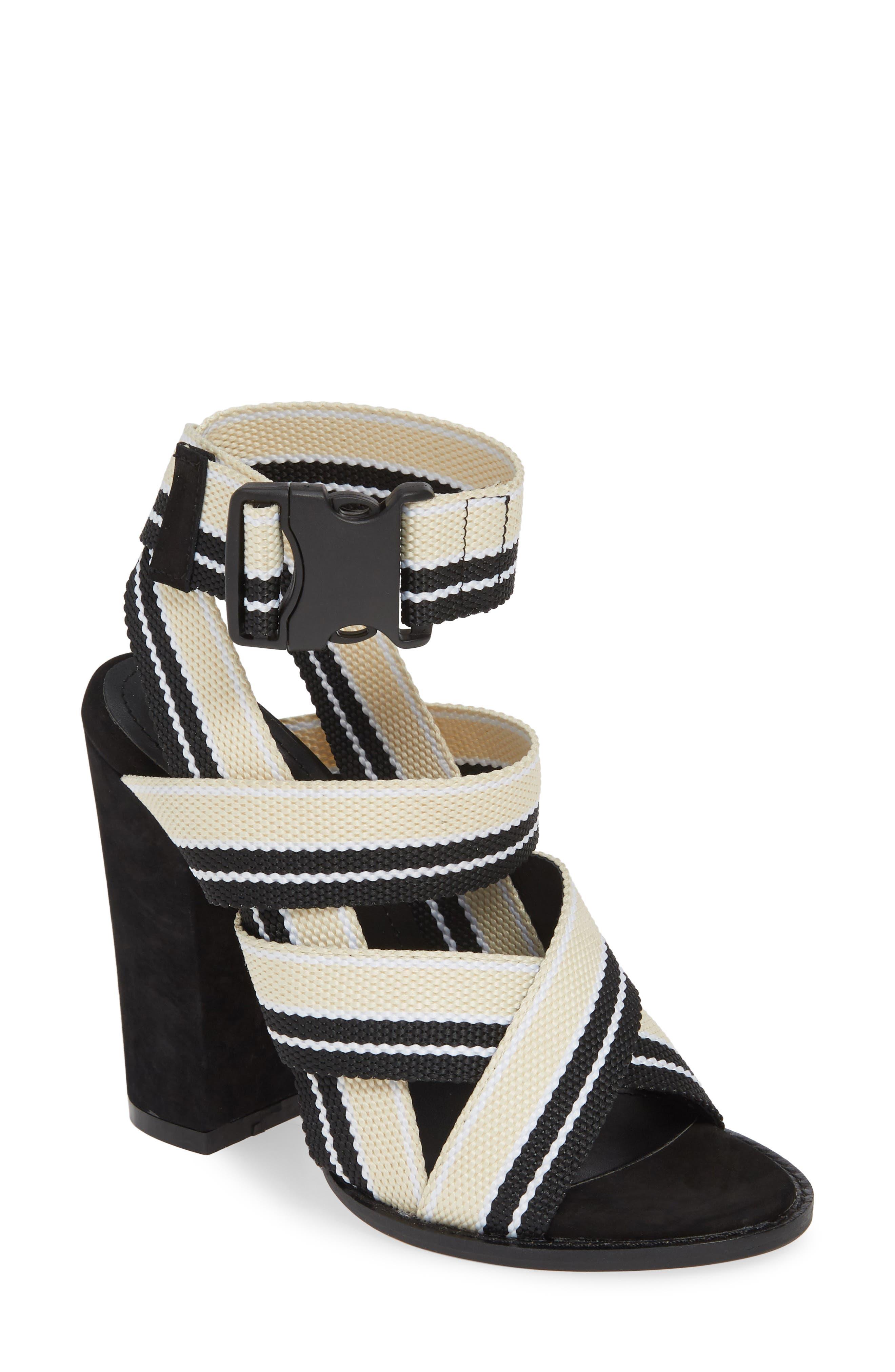 ALIAS MAE, Woven Strappy Sandal, Main thumbnail 1, color, NUDE/ BLACK FABRIC