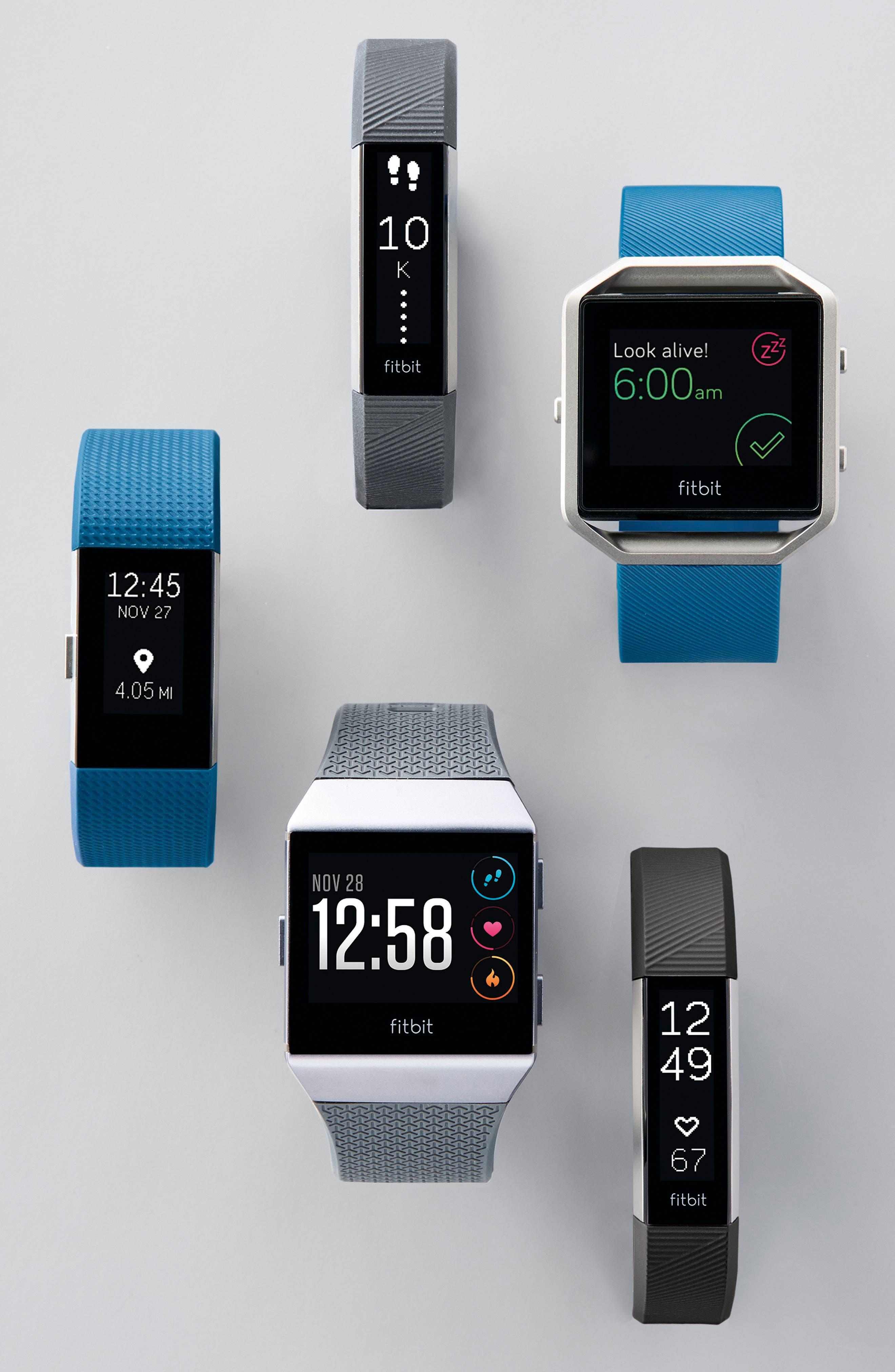 FITBIT, Blaze Smart Fitness Watch, Alternate thumbnail 7, color, 001