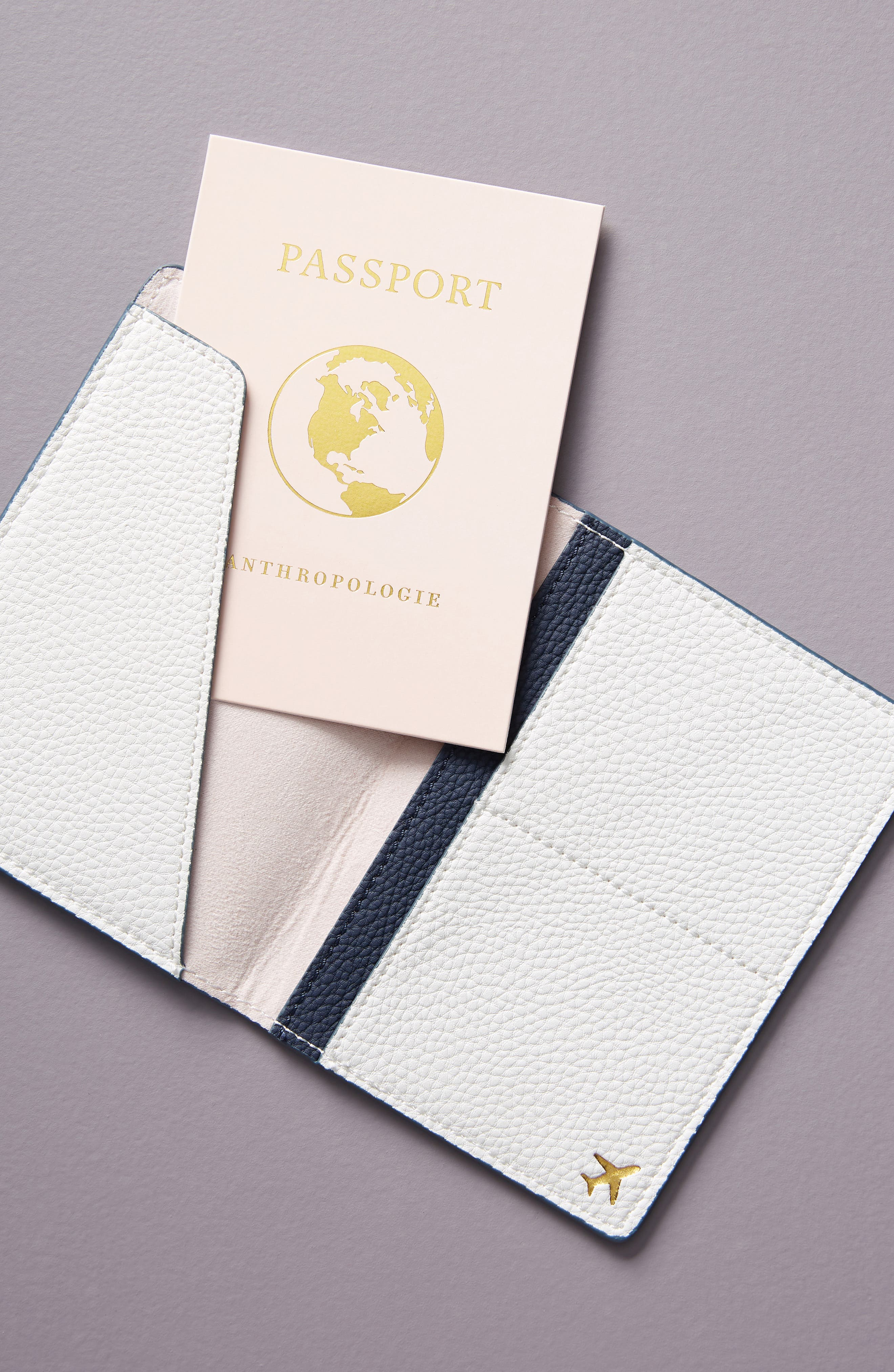 ANTHROPOLOGIE, Au Revoir Passport Holder, Alternate thumbnail 2, color, WHITE