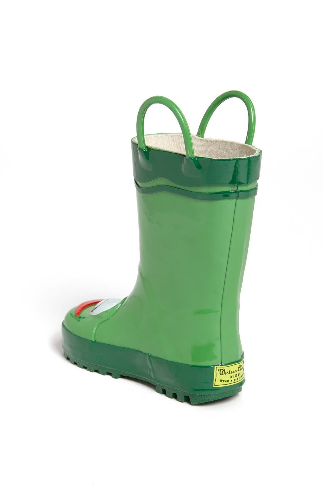 WESTERN CHIEF, Frog Rain Boot, Alternate thumbnail 2, color, GREEN