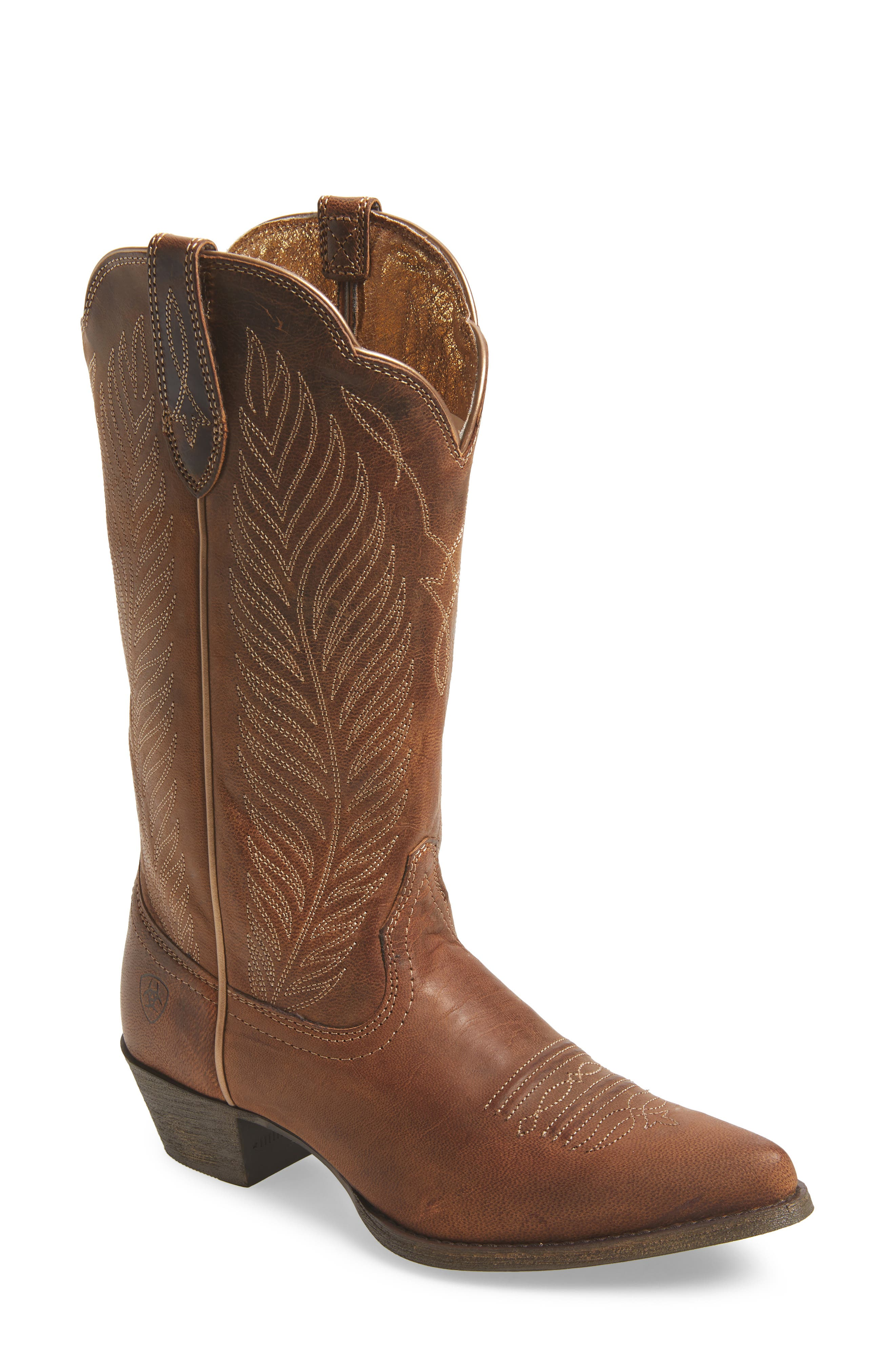 ARIAT, Round-Up Johanna Western Boot, Main thumbnail 1, color, PEARL LEATHER