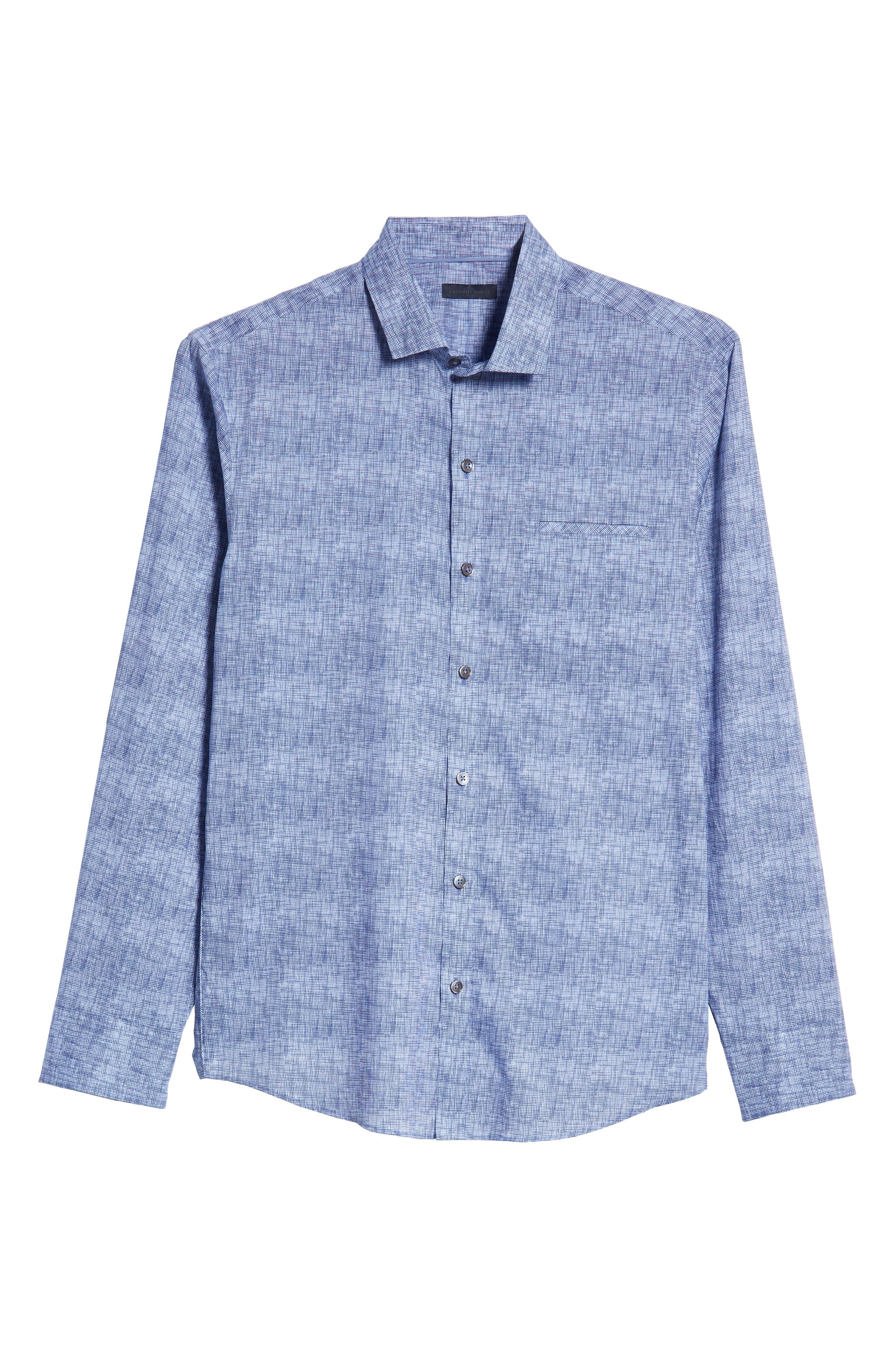 ZACHARY PRELL, Oppong Regular Fit Sport Shirt, Alternate thumbnail 5, color, 400