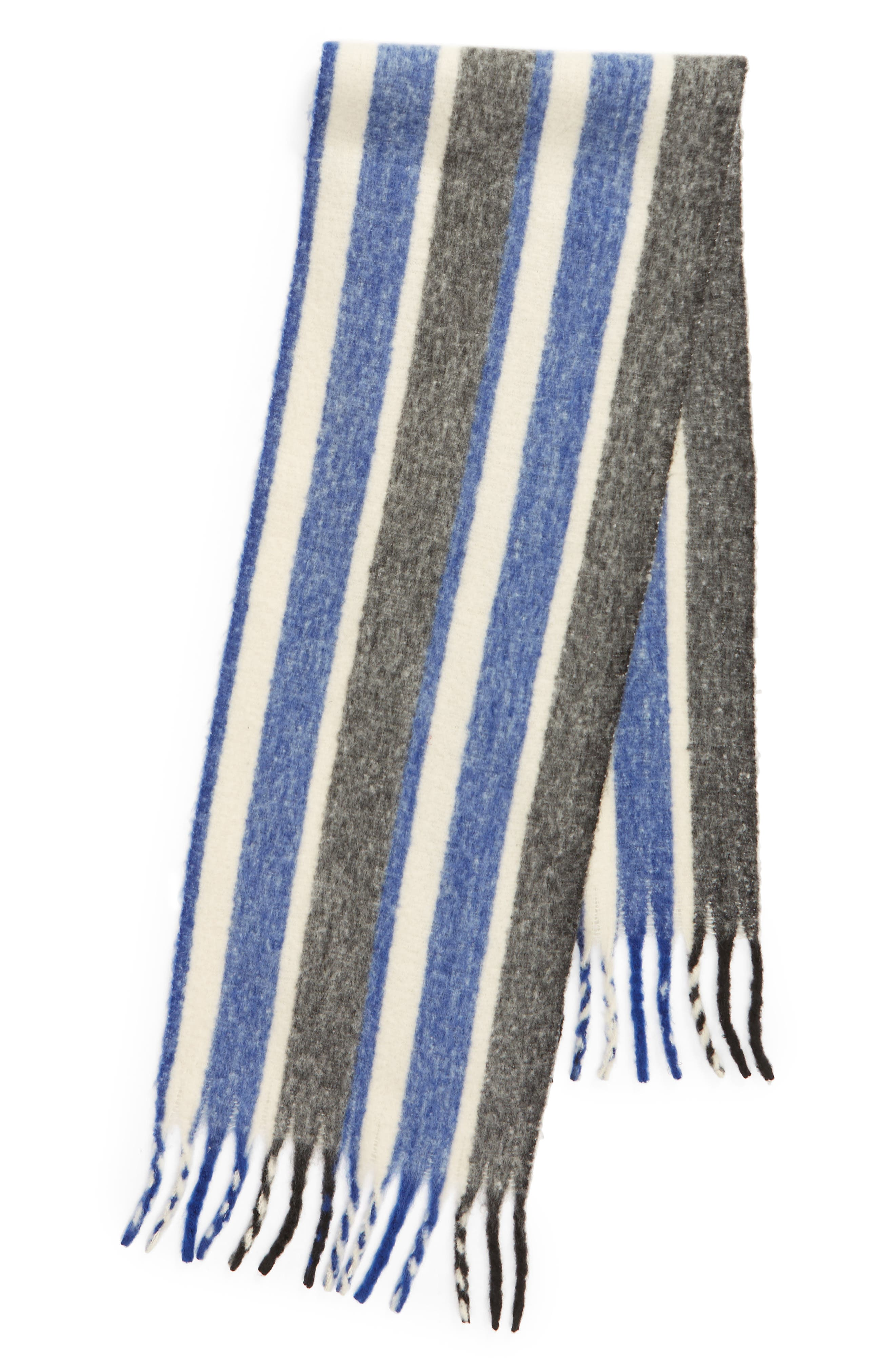 TREASURE & BOND, Striped Scarf, Alternate thumbnail 3, color, 400