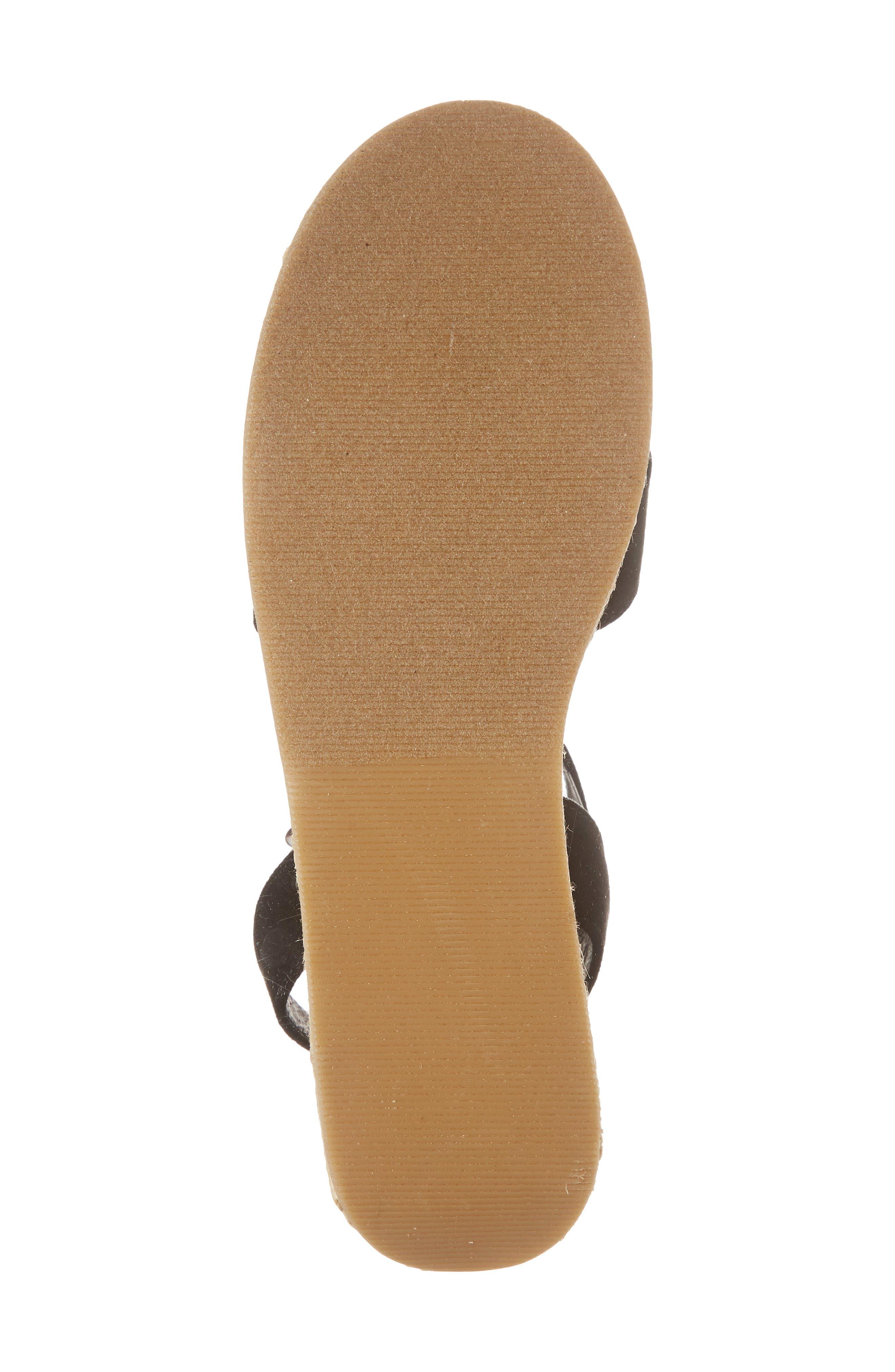 CHINESE LAUNDRY, Zala Espadrille Platform Sandal, Alternate thumbnail 6, color, BLACK