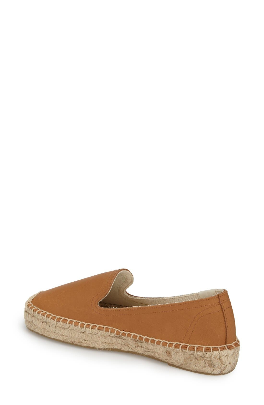 SOLUDOS, 'Smoking' Espadrille Platform Shoe, Alternate thumbnail 5, color, TAN LEATHER